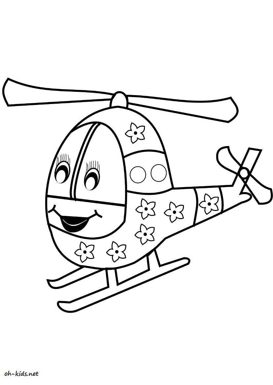 Dessin 953 Coloriage Hélicoptère à Imprimer Oh Kids Net