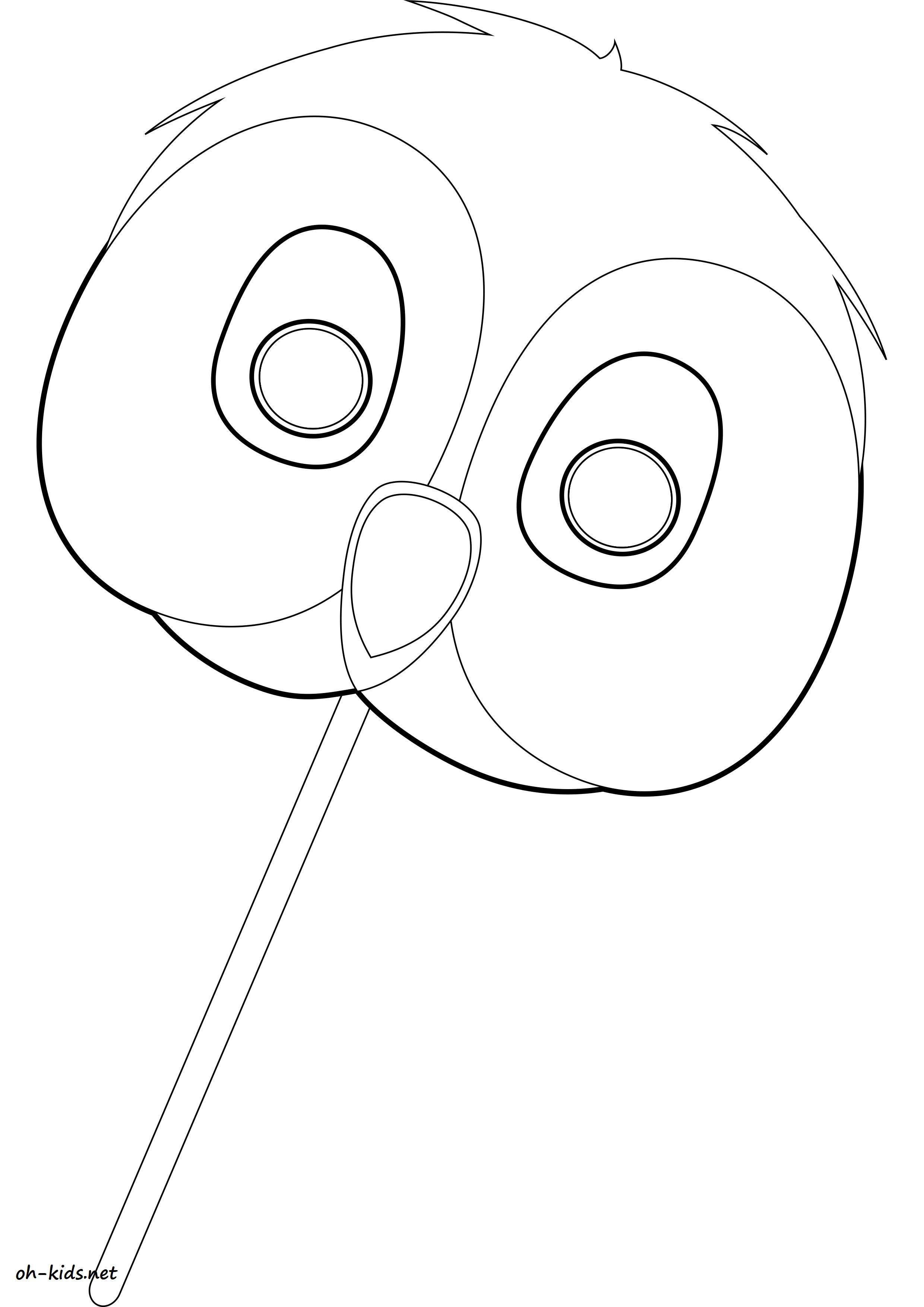 dessin de hibou pour imprimer et colorier - Dessin #1619