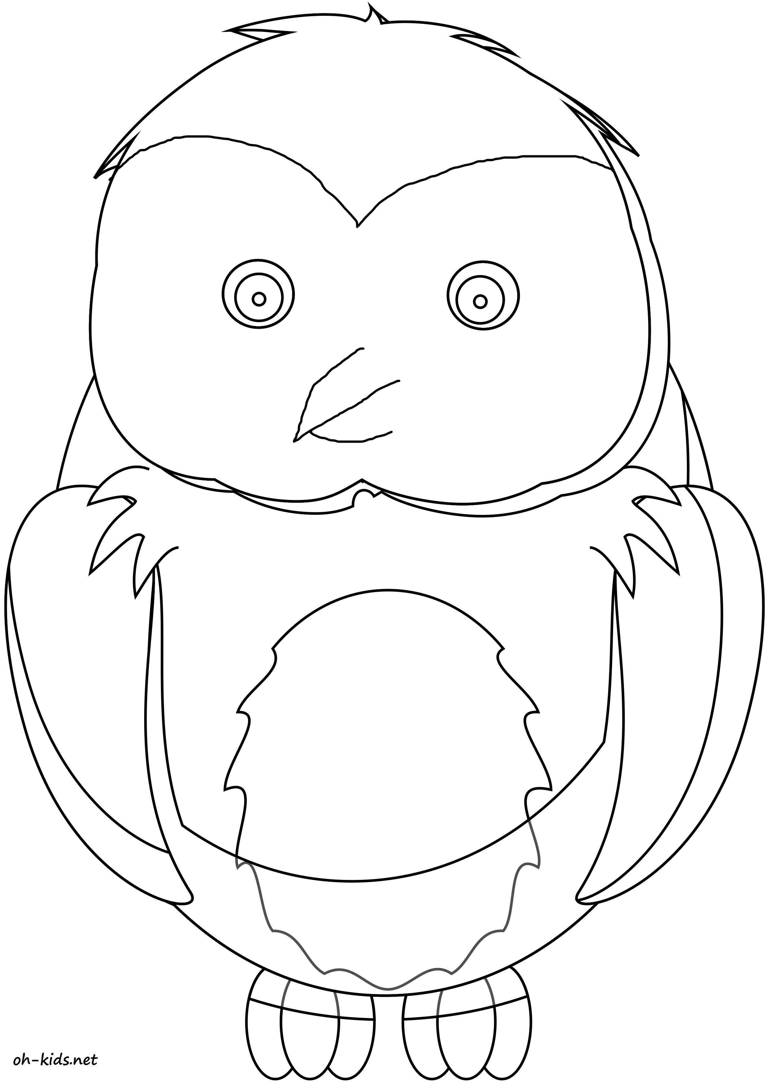 Coloriage hibou à imprimer - Dessin #1605