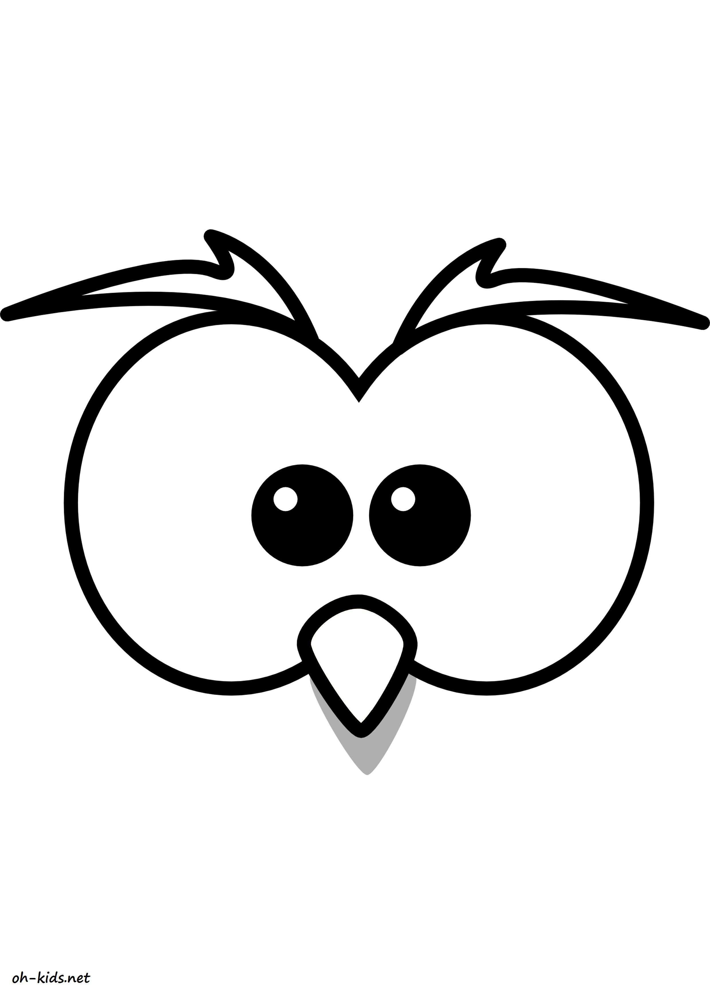 jeux de coloriage hibou à colorier et imprimer - Dessin #1606