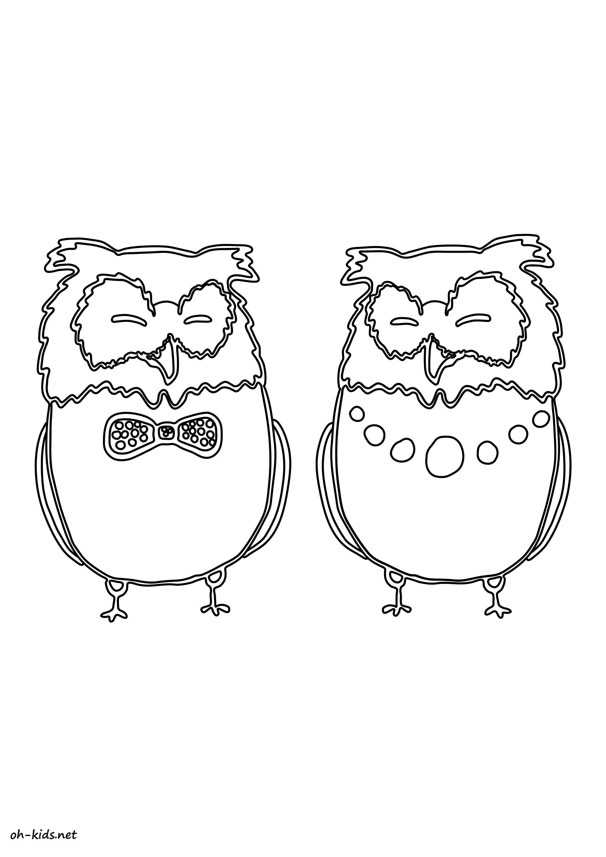 Hibou dessin colorier - Dessin de hibou ...