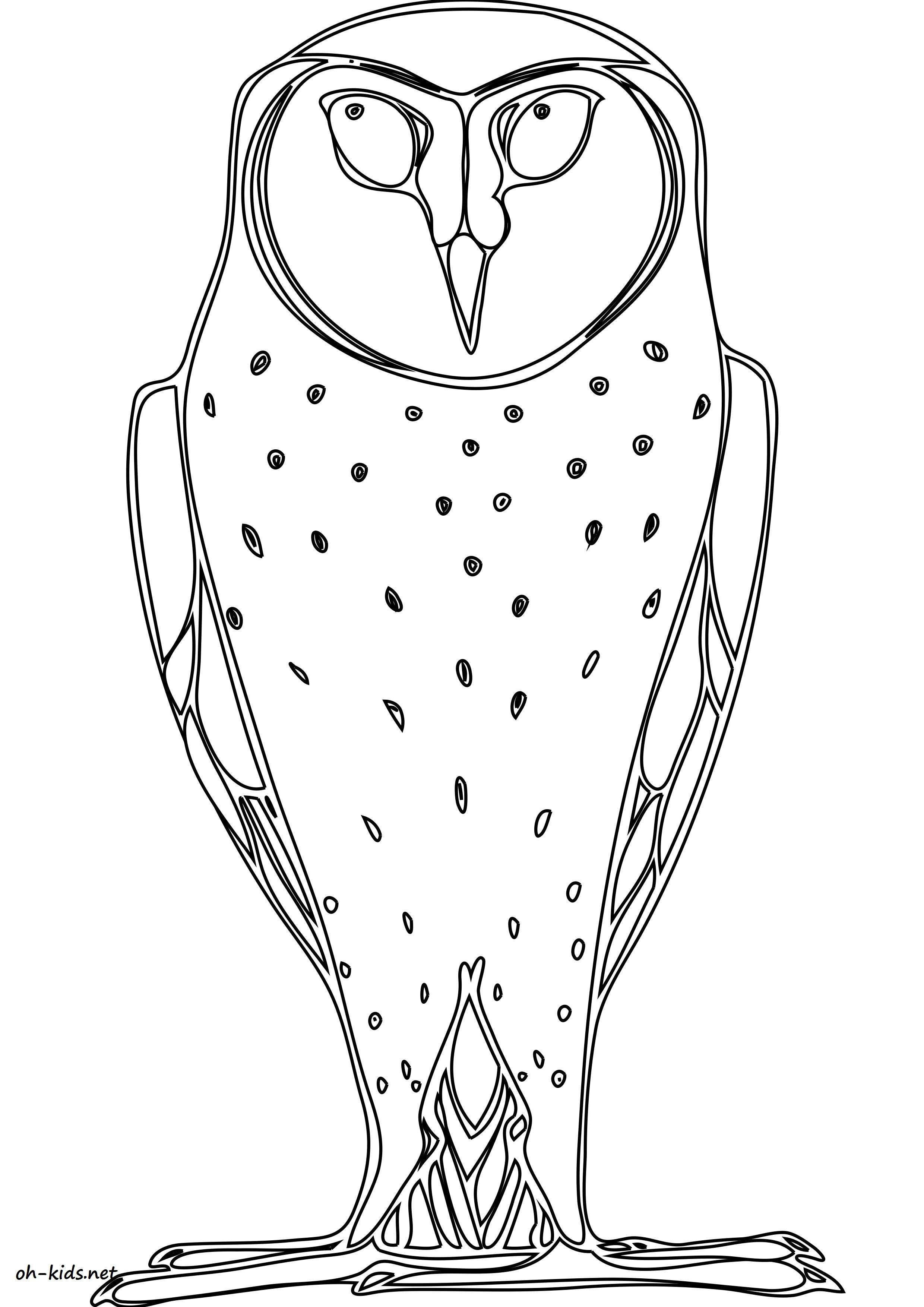 dessin de hibou a colorier et imprimer - Dessin #1612