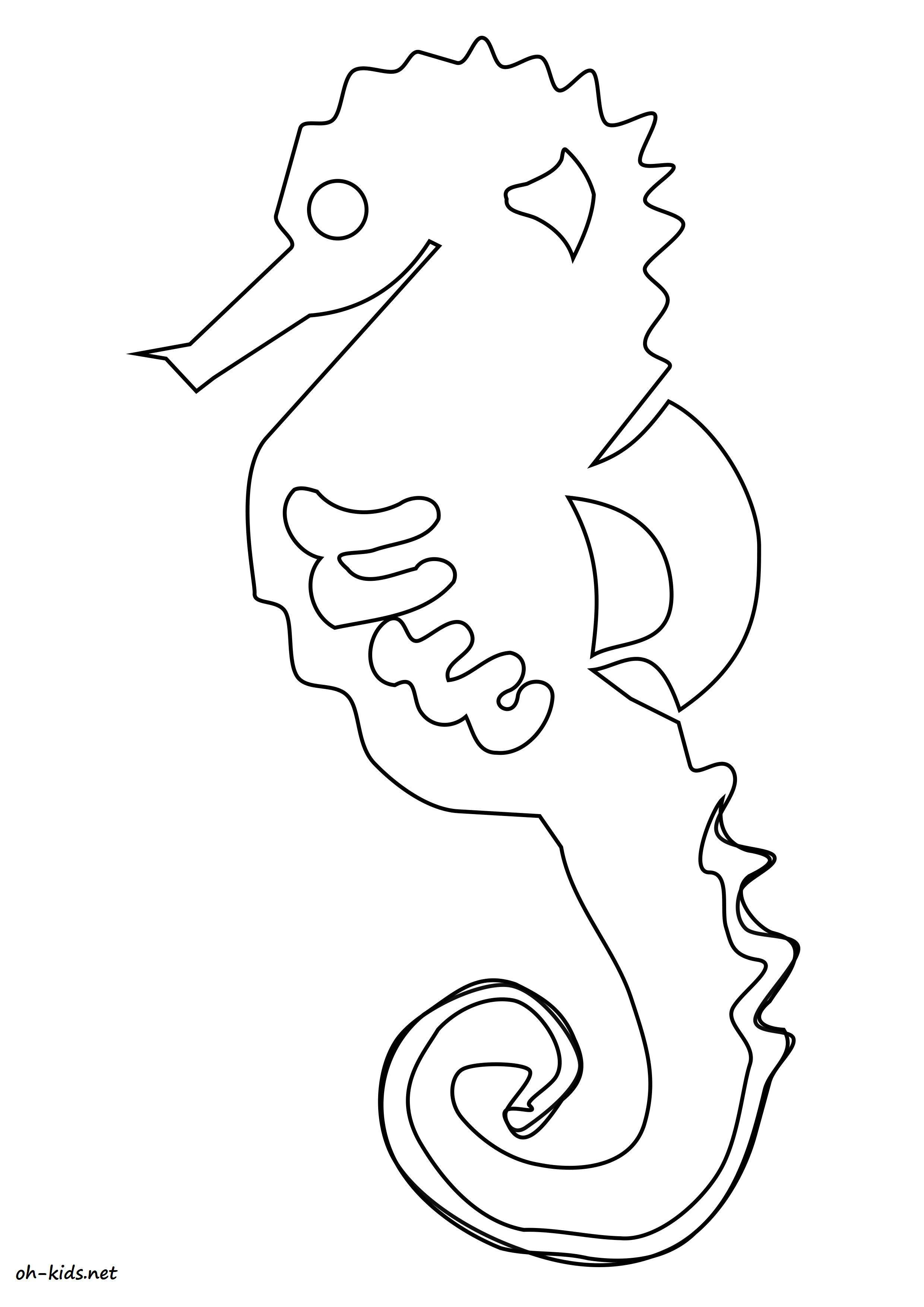 Coloriage Hippocampe Oh Kids Fr