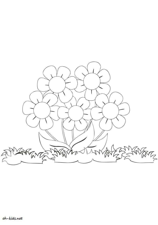 Dessin #435 - Coloriage jardin de fleurs à imprimer - Oh ...