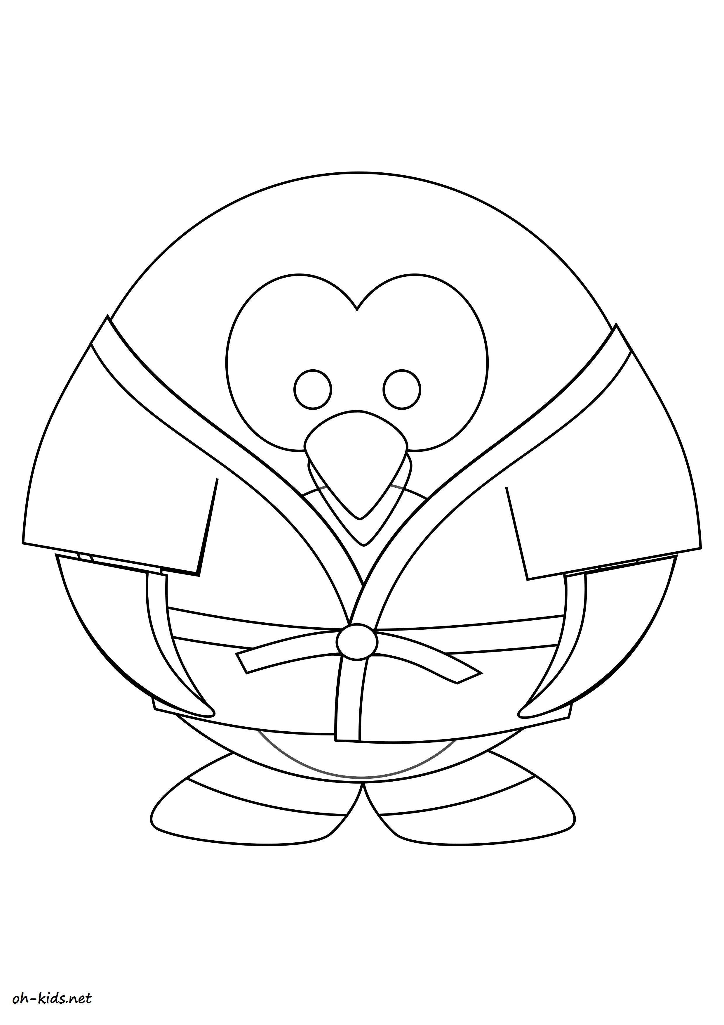 Une Jolie image de judo a colorier - Dessin #1382
