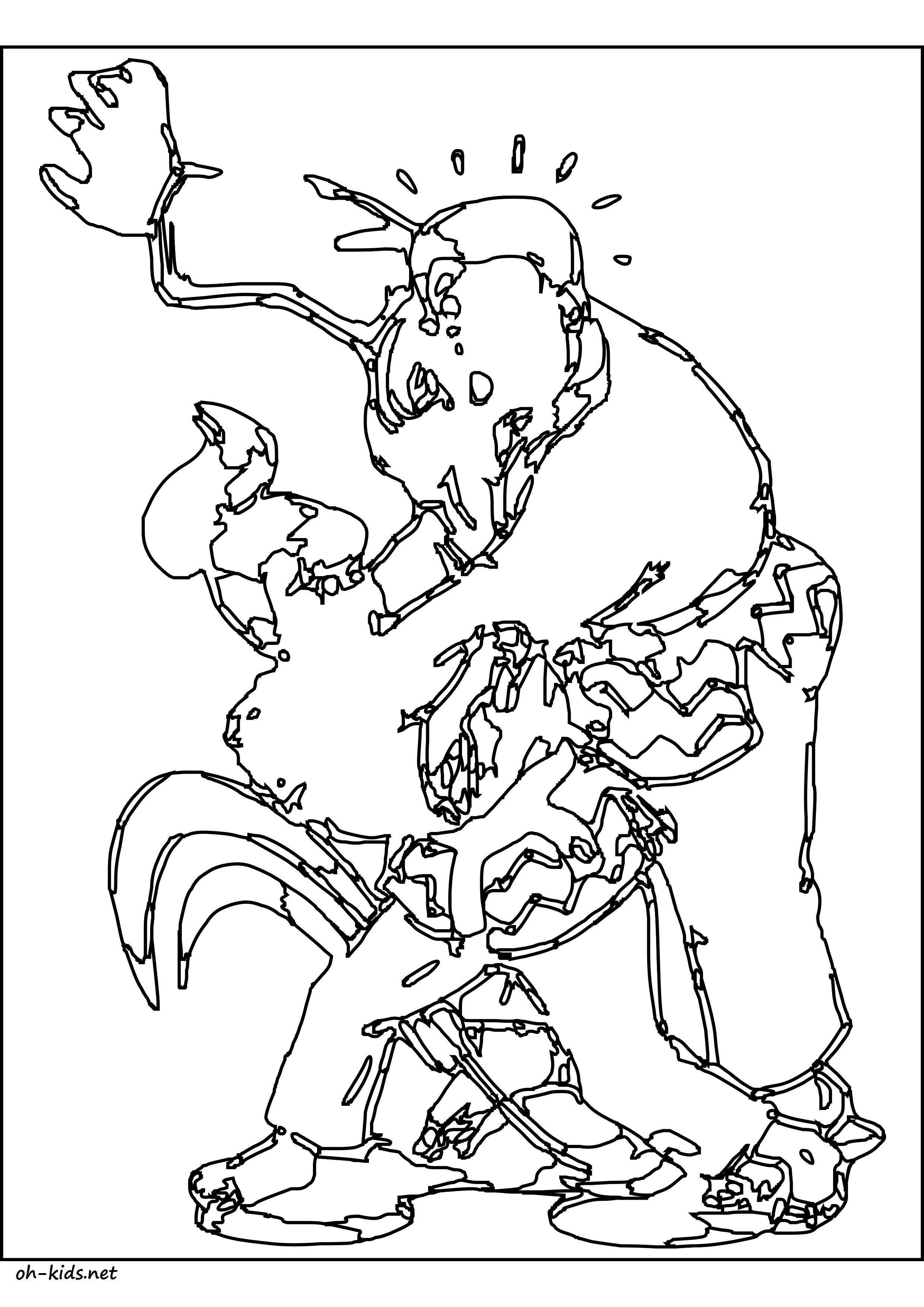 Coloriage de judo gratuit à imprimer - Dessin #1385