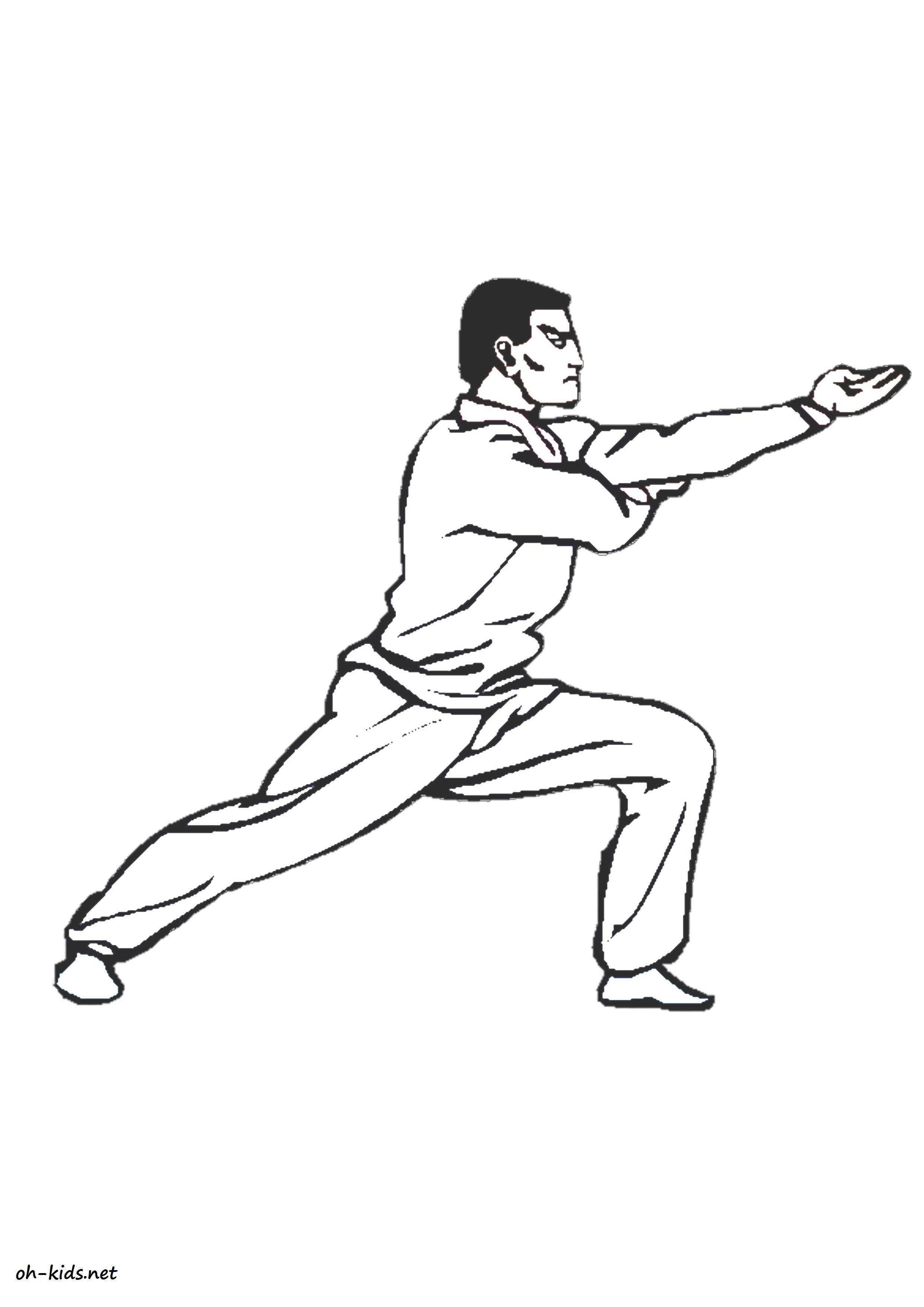 Dessin de judo a imprimer - Dessin #1387