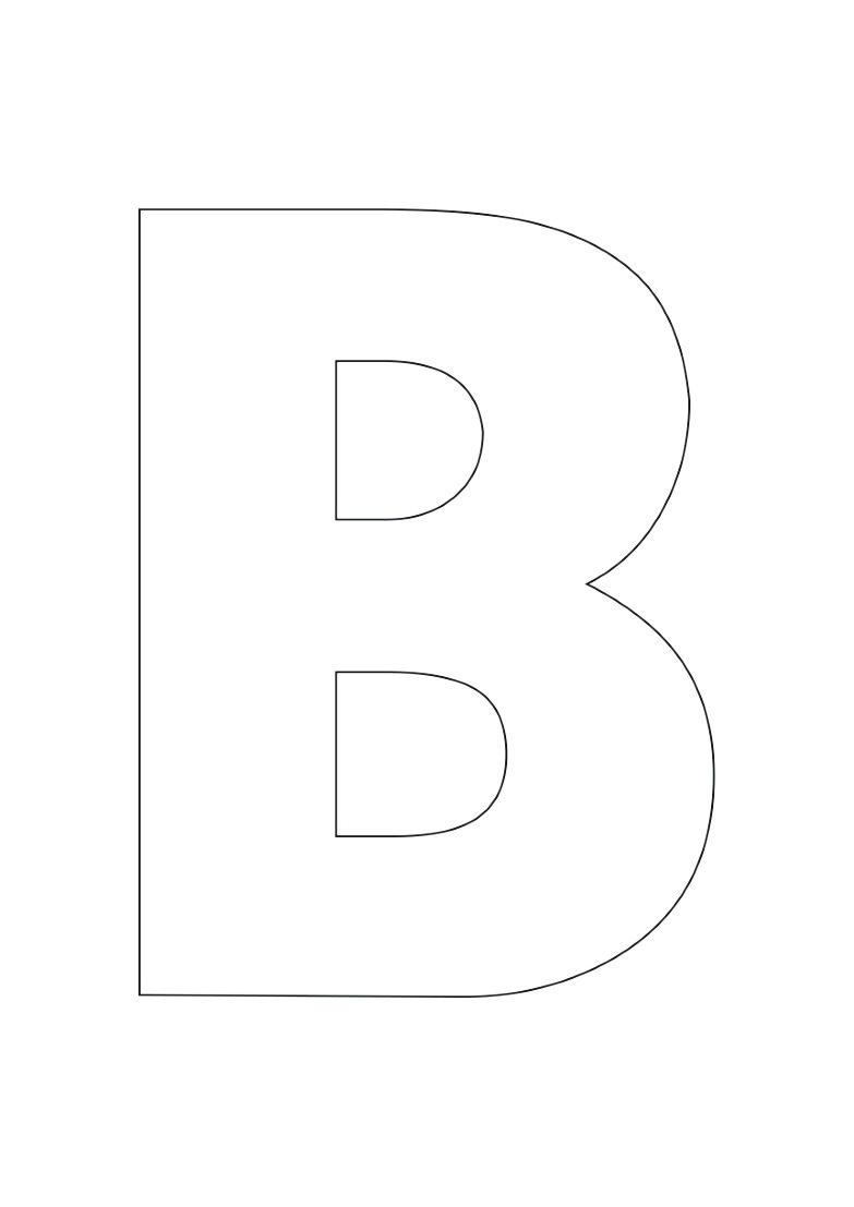 Dessin #983 - Coloriage lettre B à imprimer - Oh-Kids.net