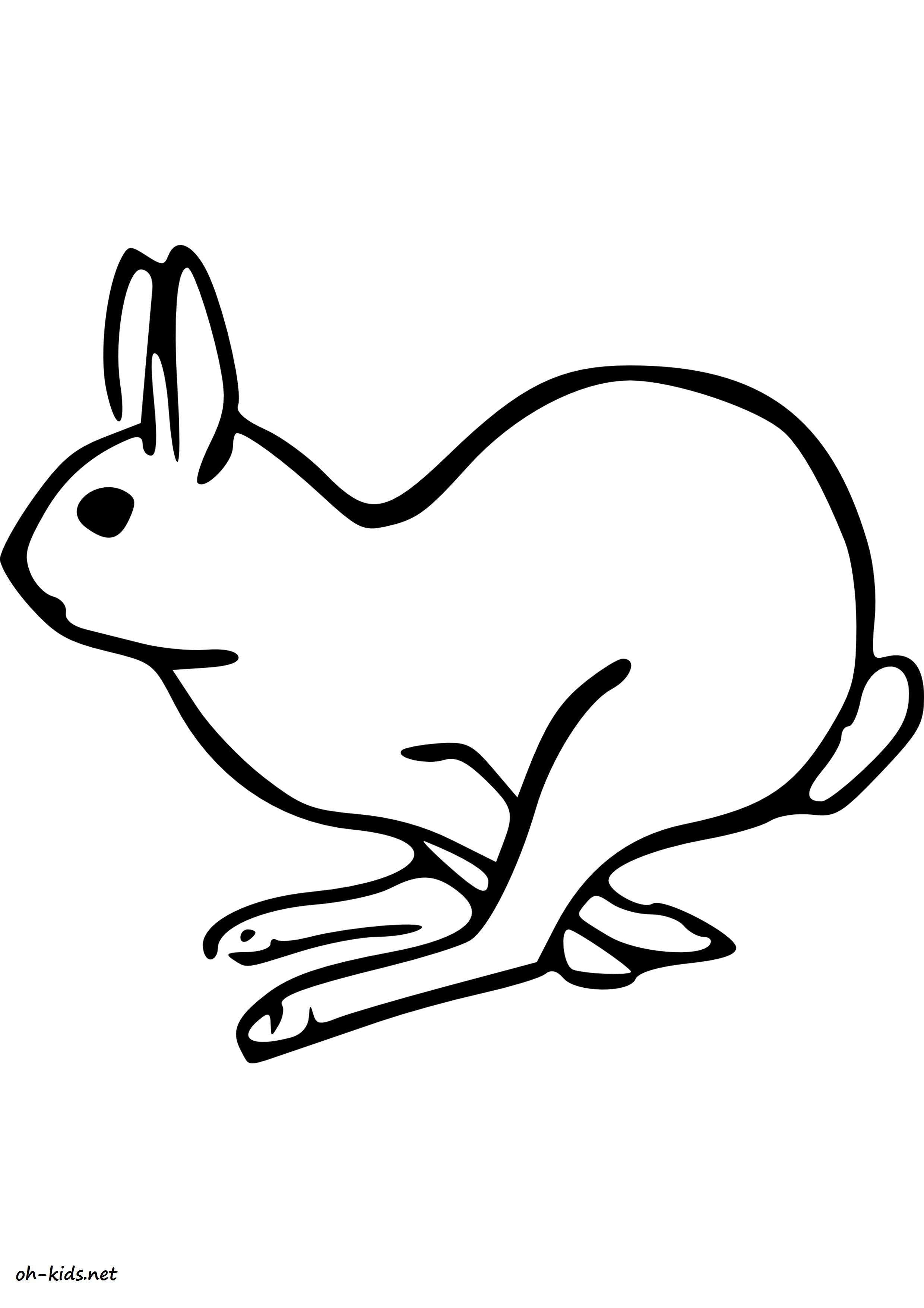 dessin de lièvre gratuit à imprimer et colorier - Dessin #1637