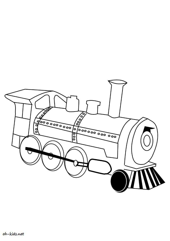 Coloriage transport page 10 of 47 oh kids fr - Locomotive dessin ...