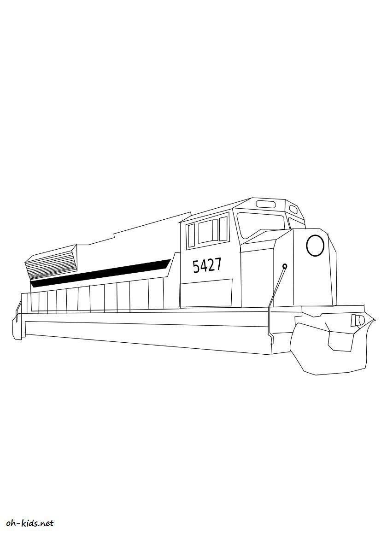Dessin 976 coloriage locomotive imprimer oh - Locomotive dessin ...