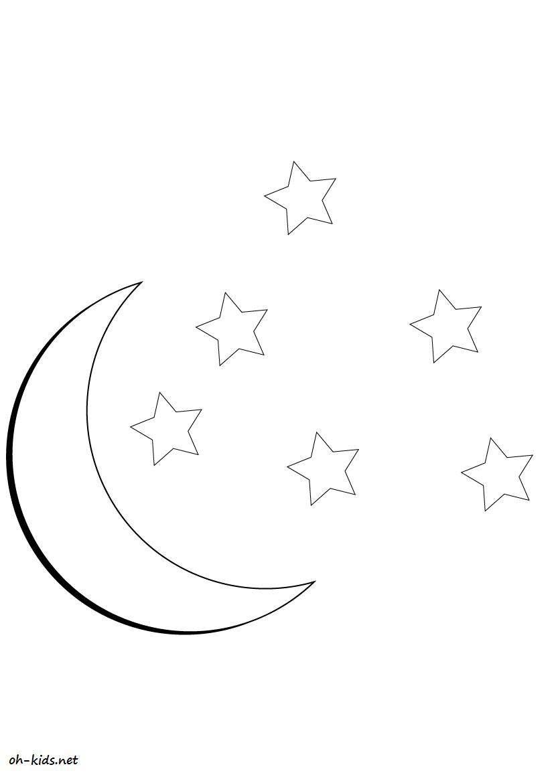 Coloriage la lune colorier les enfants - La lune coloriage ...
