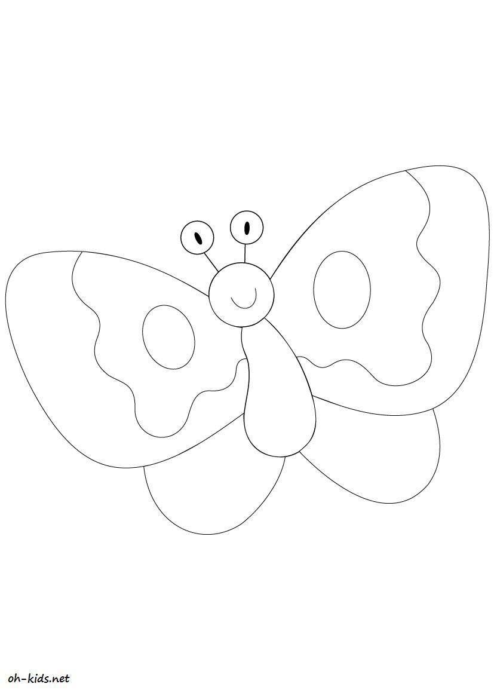 Coloriage magnifique papillon page 2 of 3 oh kids fr - Modele de papillon a imprimer ...