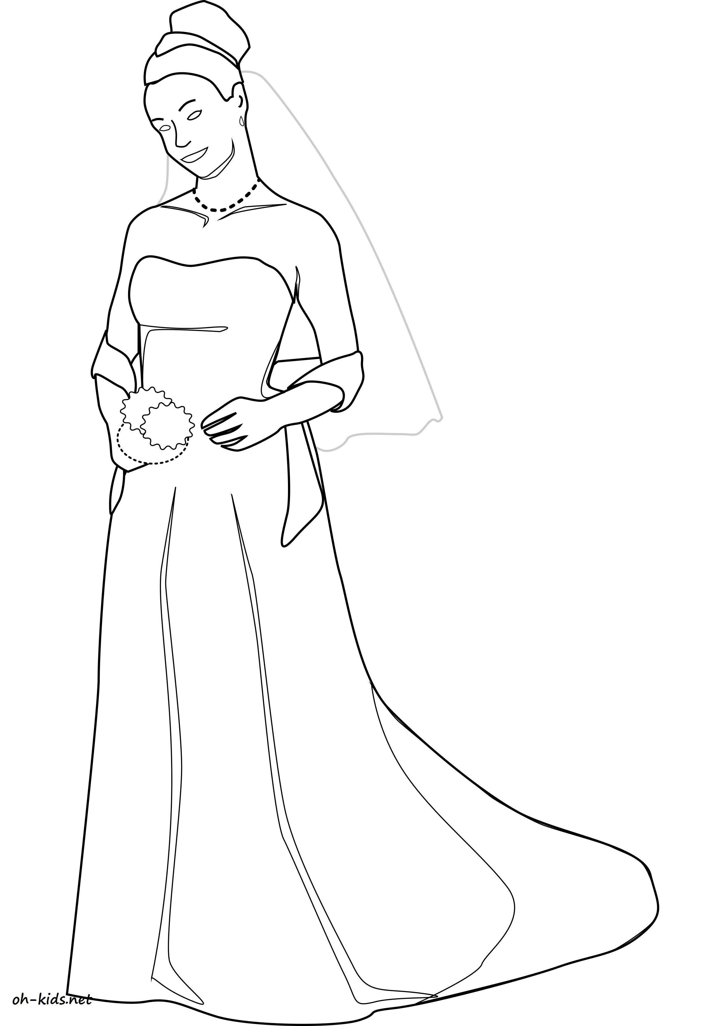dessin gratuit mariage à imprimer - Dessin #1195