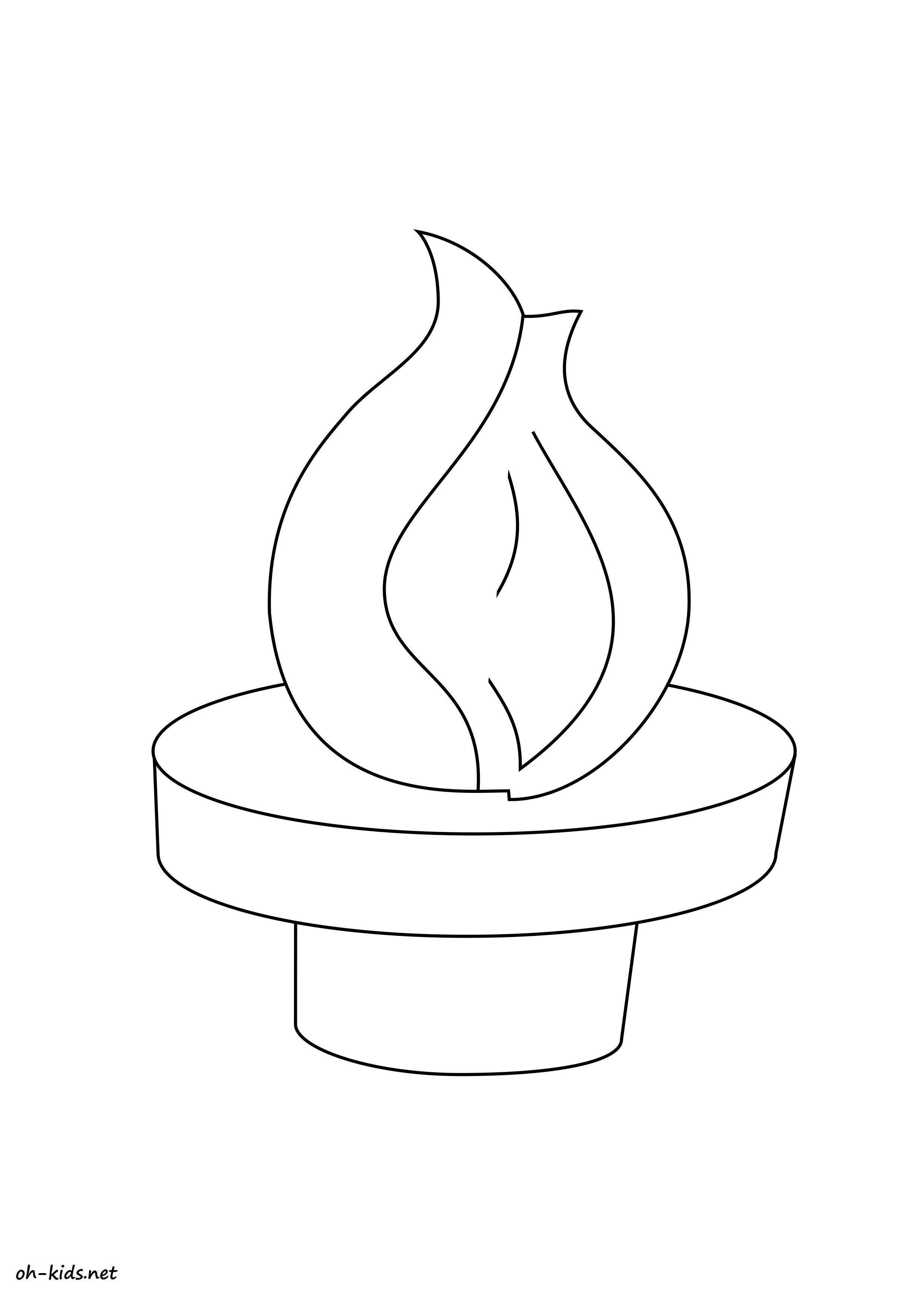 Dessin gratuit de olympique a imprimer et colorier - Dessin #1399