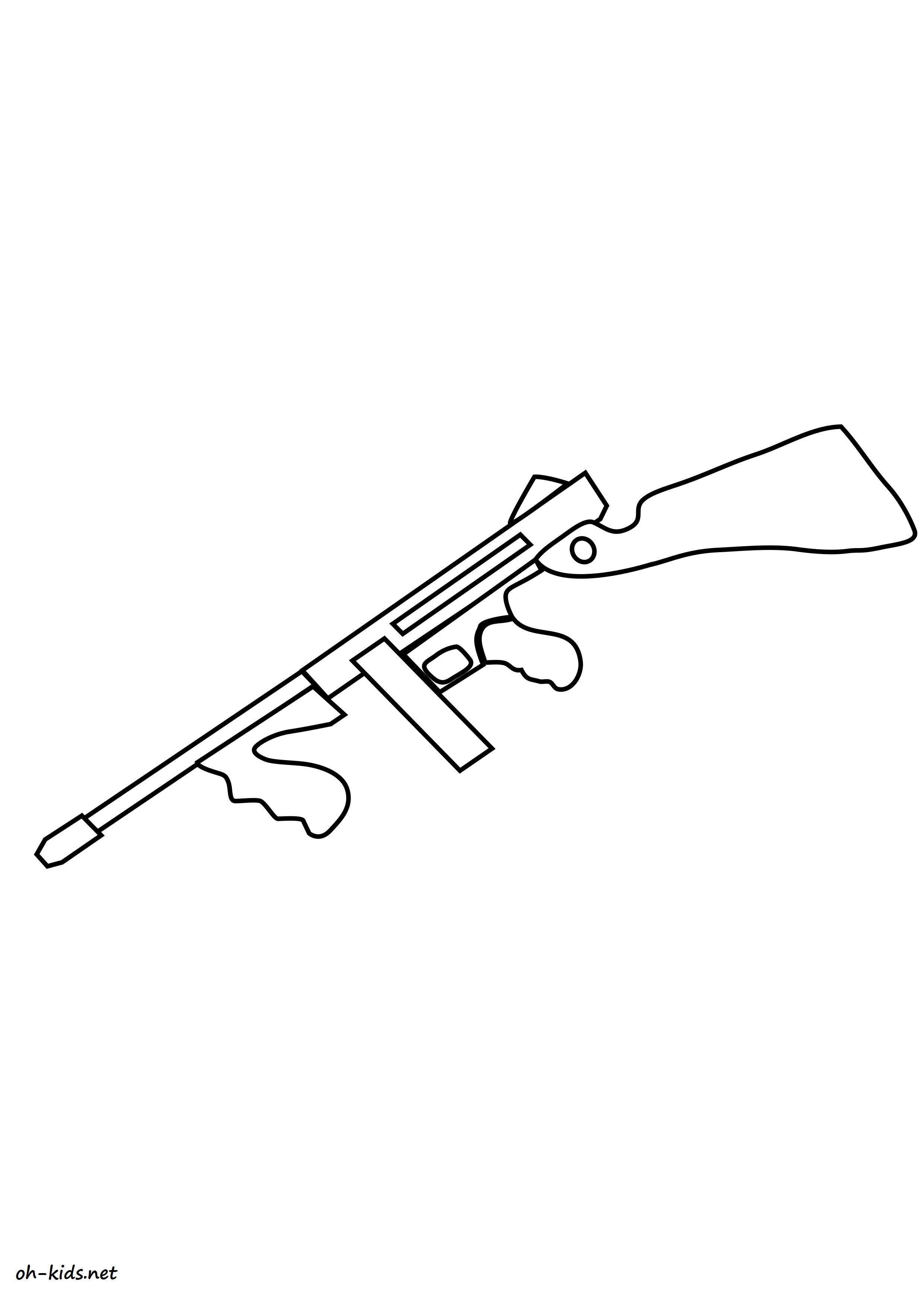 coloriage gratuit de pistolet à imprimer - Dessin #1166