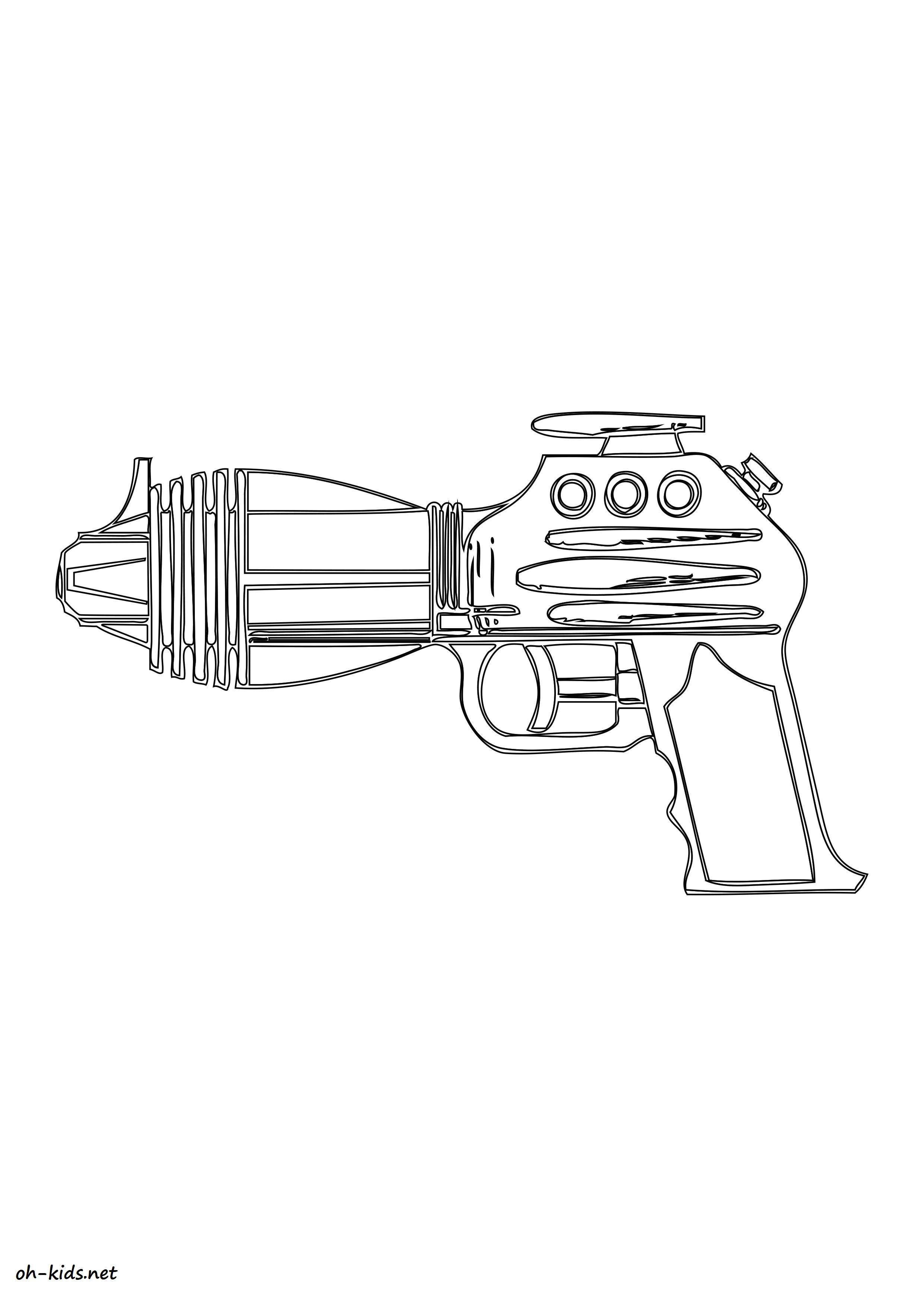 Dessin de pistolet gratuit a imprimer et colorier - Dessin #1168
