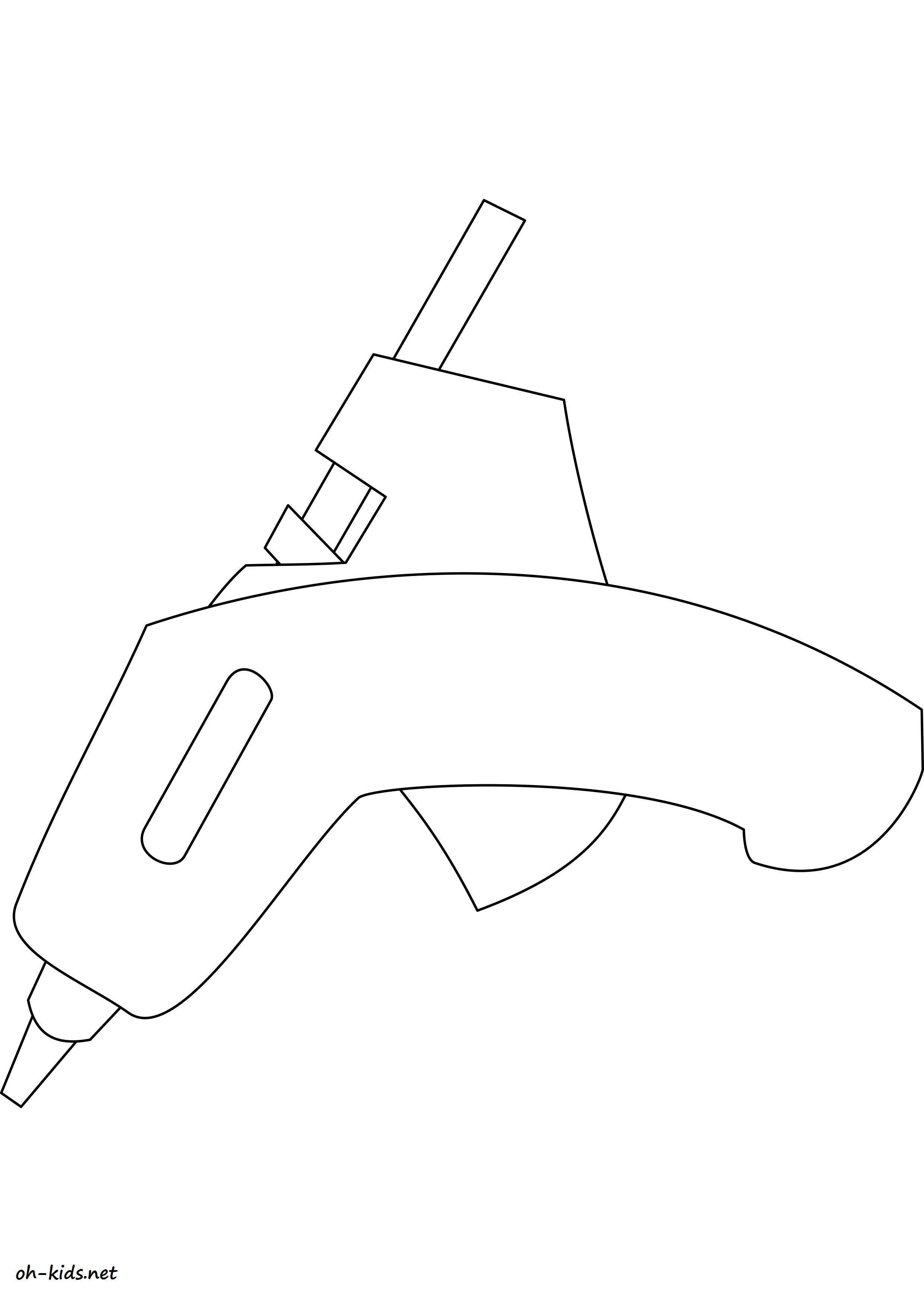 dessin gratuit de pistolet a imprimer - Dessin #1171