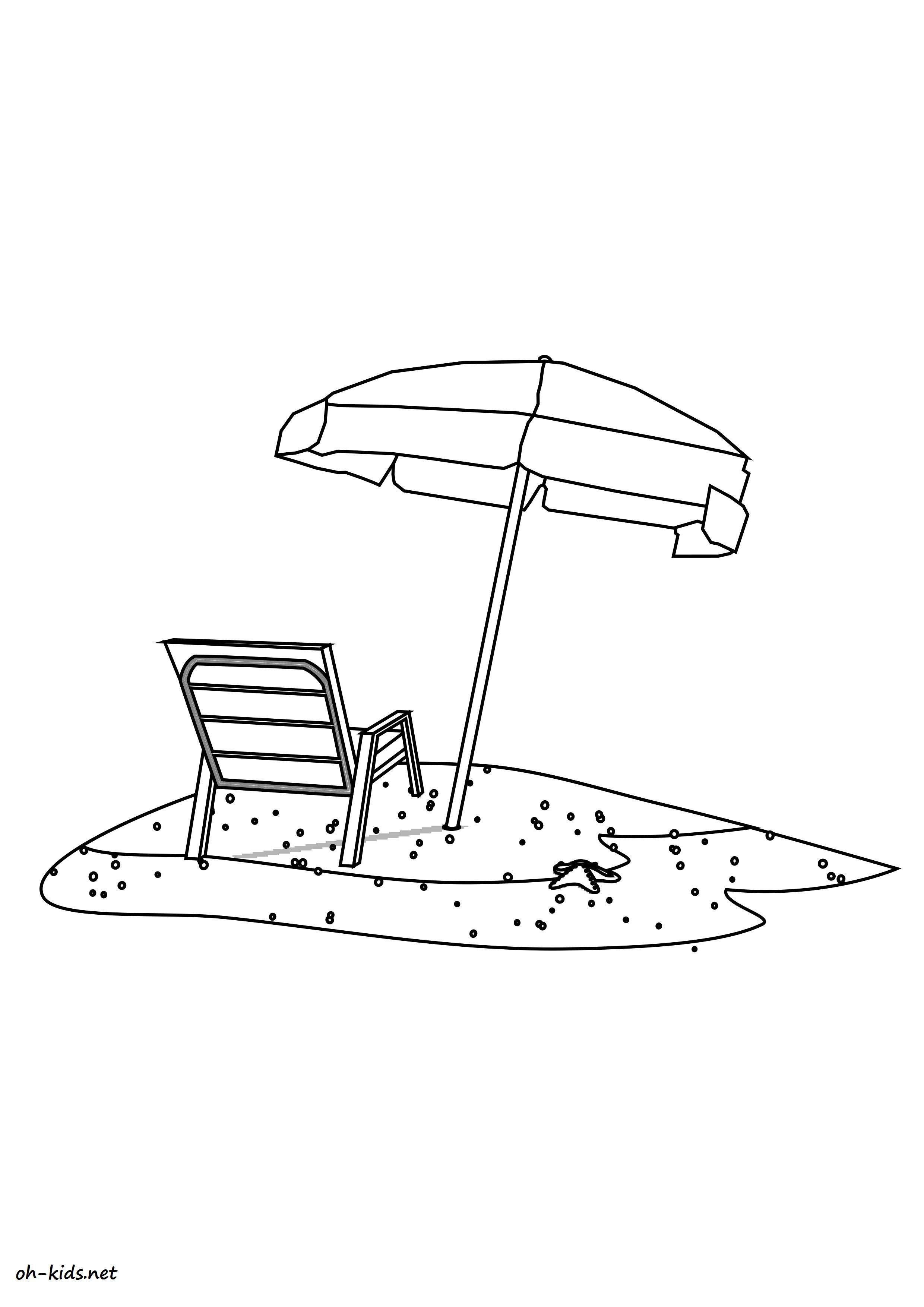 Coloriage plage a imprimer - Dessin #1458