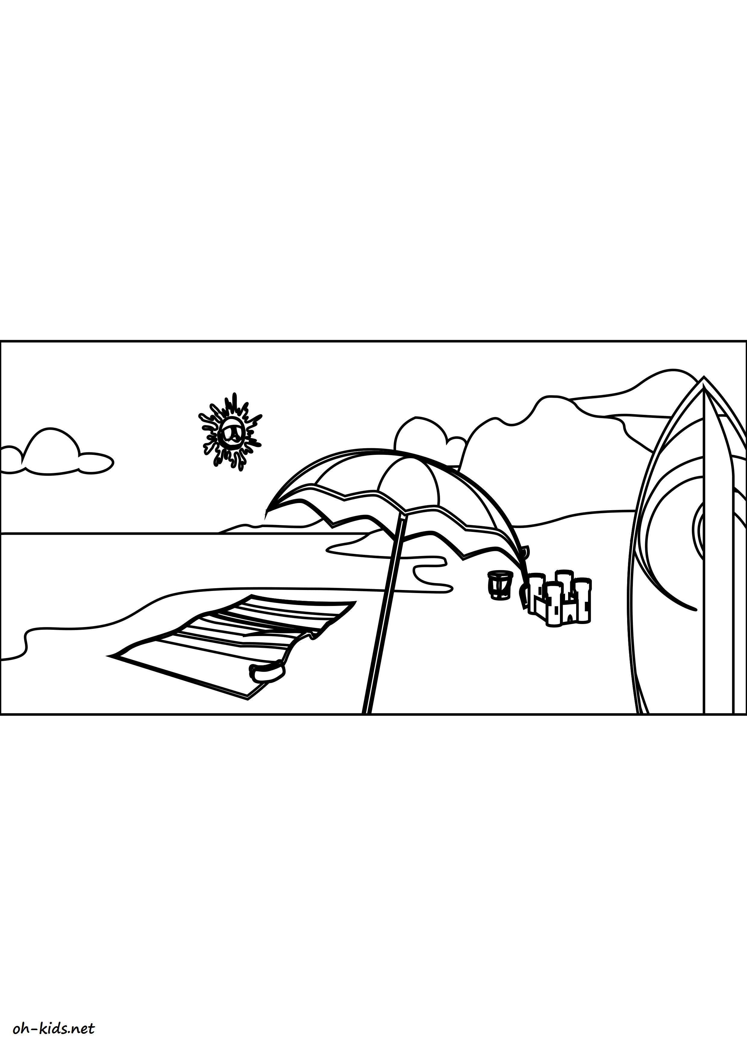 Coloriage plage - Dessin #1463