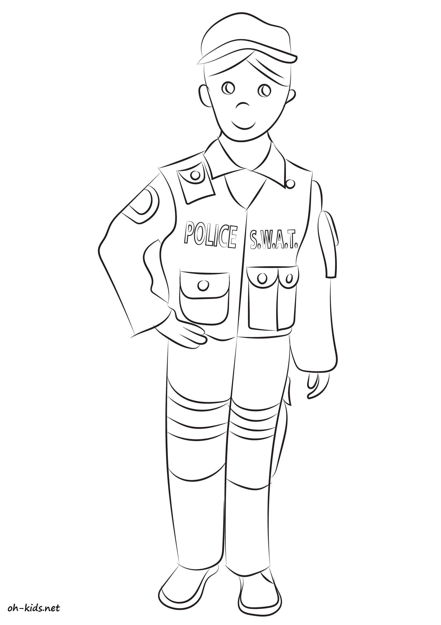 Coloriage police oh kids fr - Police coloriage ...