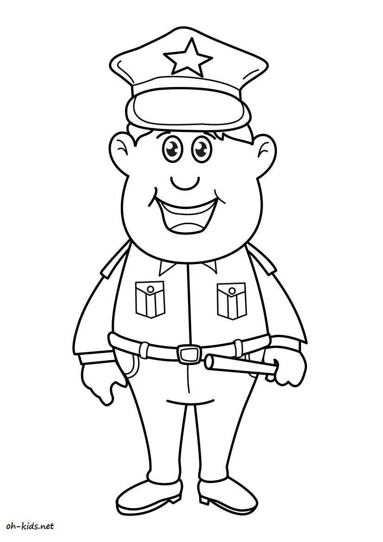 Dessin 828 Coloriage Police A Imprimer Oh Kids Net