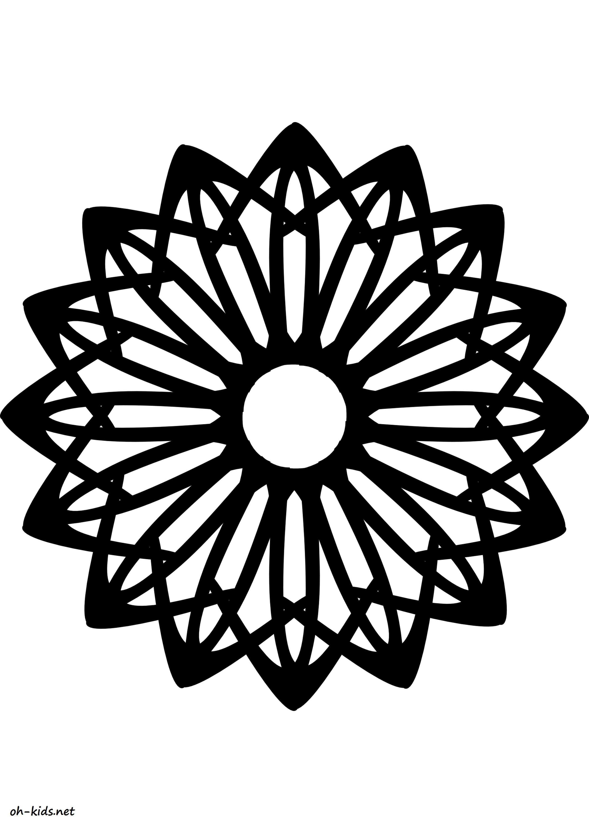 Une Jolie image de rosace à imprimer gratuitement - Dessin #1175