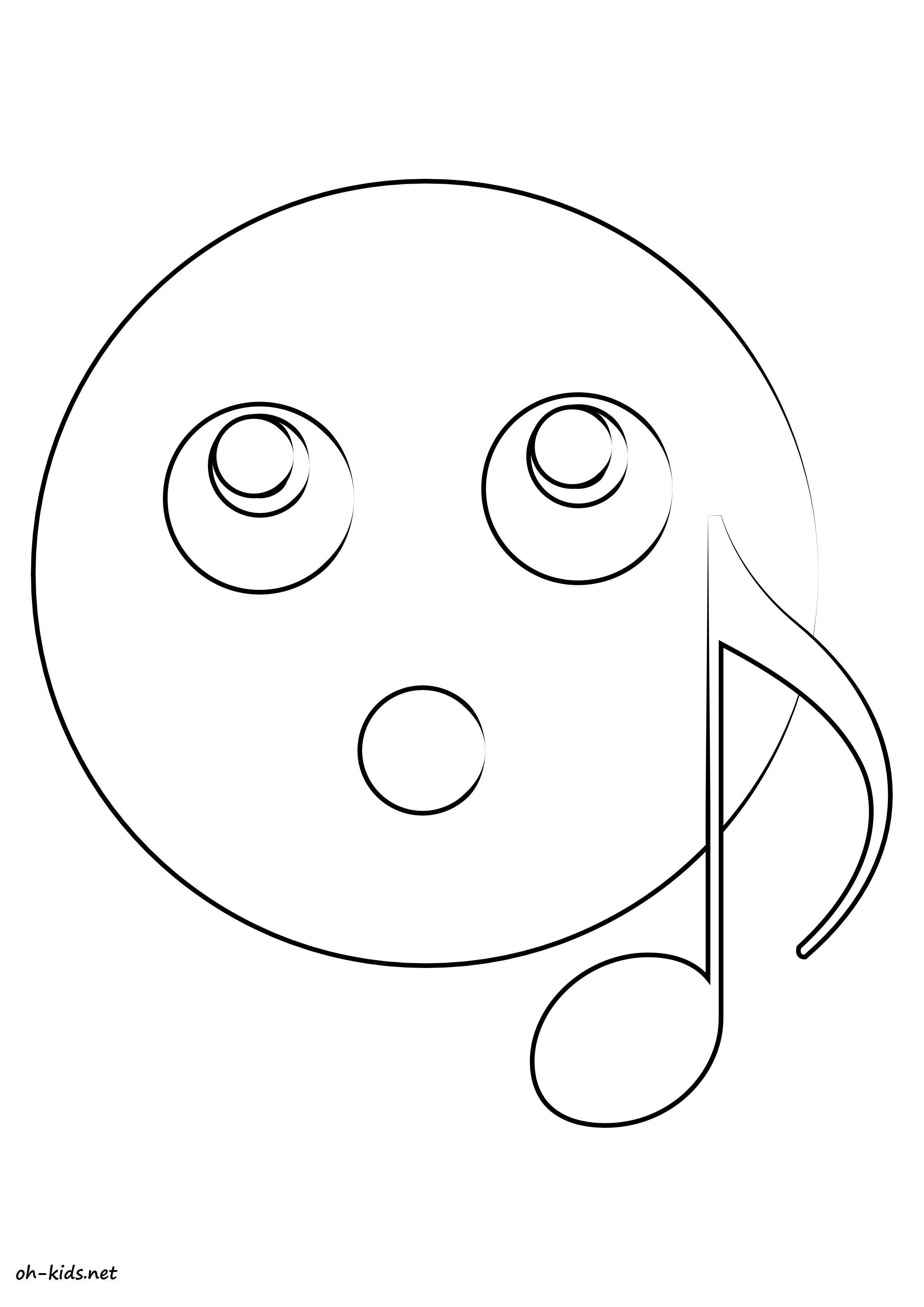 Coloriage smiley oh kids fr - Coloriage de smiley ...
