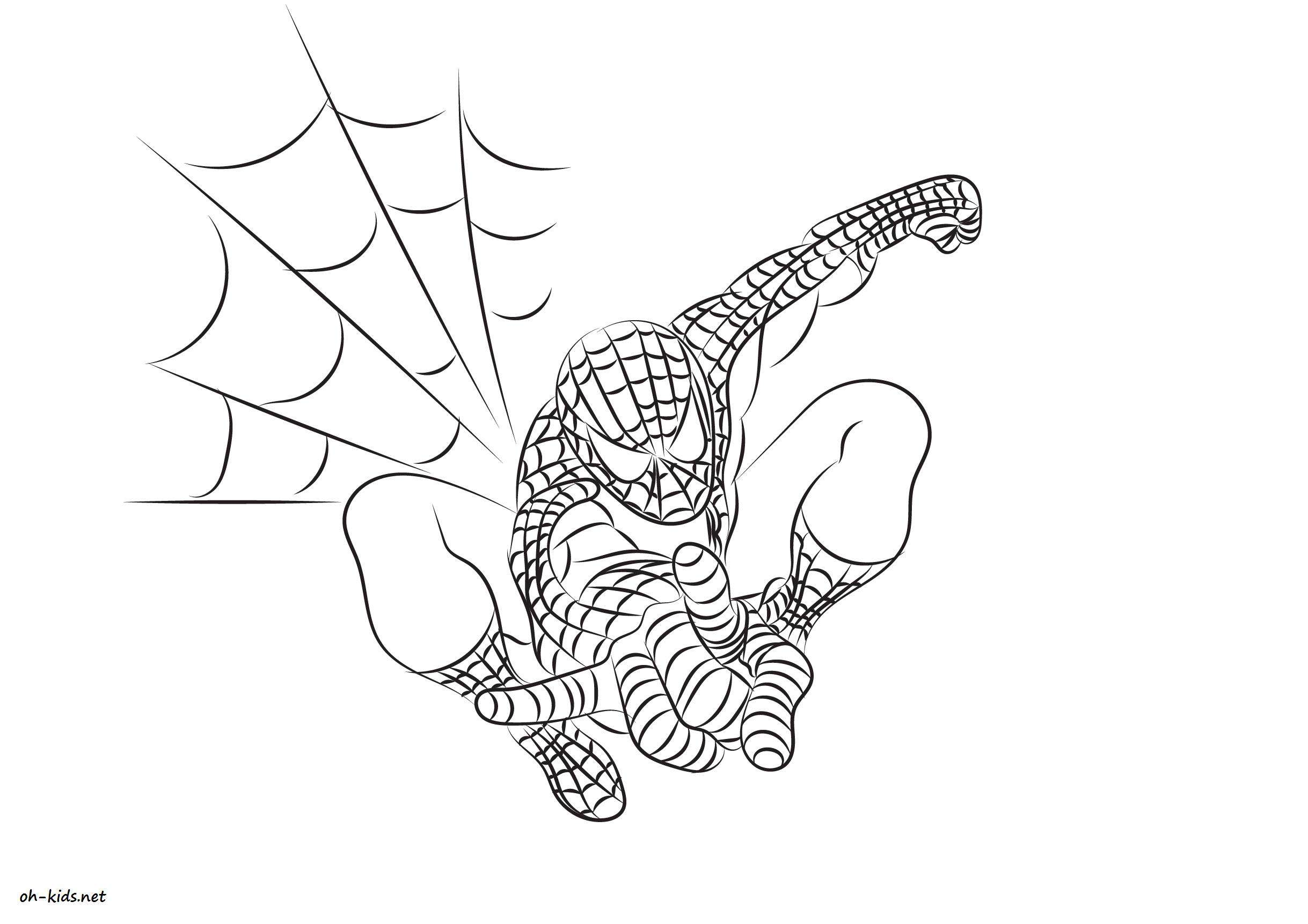 Dessin 829 coloriage spiderman imprimer oh - Coloriage spiderman 1 ...