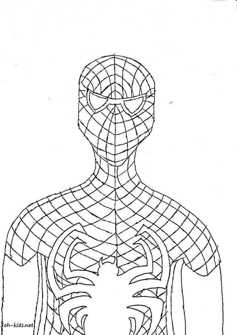 Coloriage spiderman oh kids fr - Coloriage spiderman 1 ...
