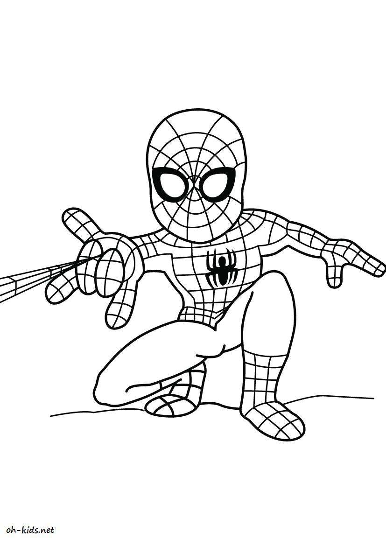 Dessin 835 Coloriage Spiderman A Imprimer Oh Kids Net