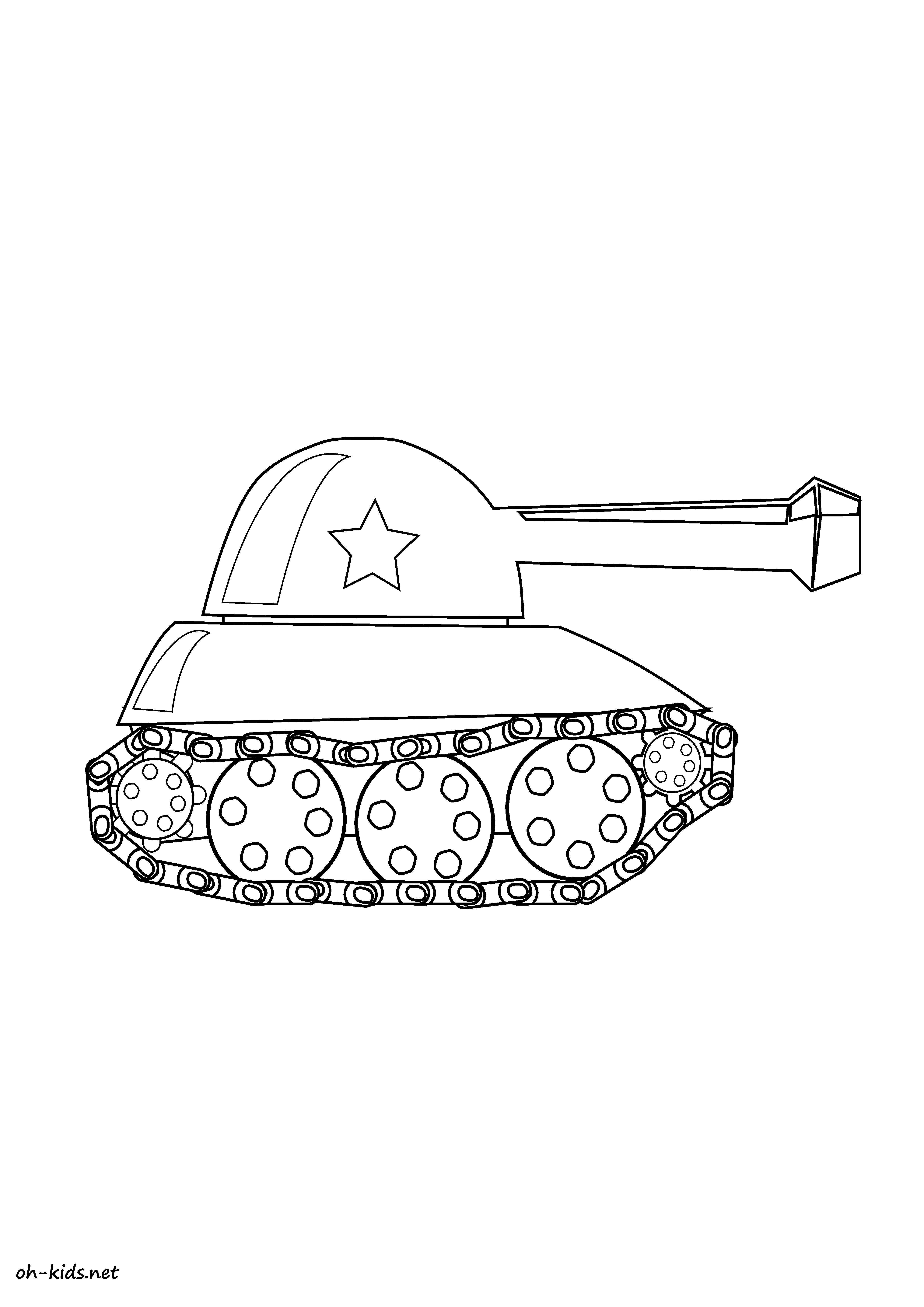 Coloriage tank oh kids fr - Coloriage de tank ...