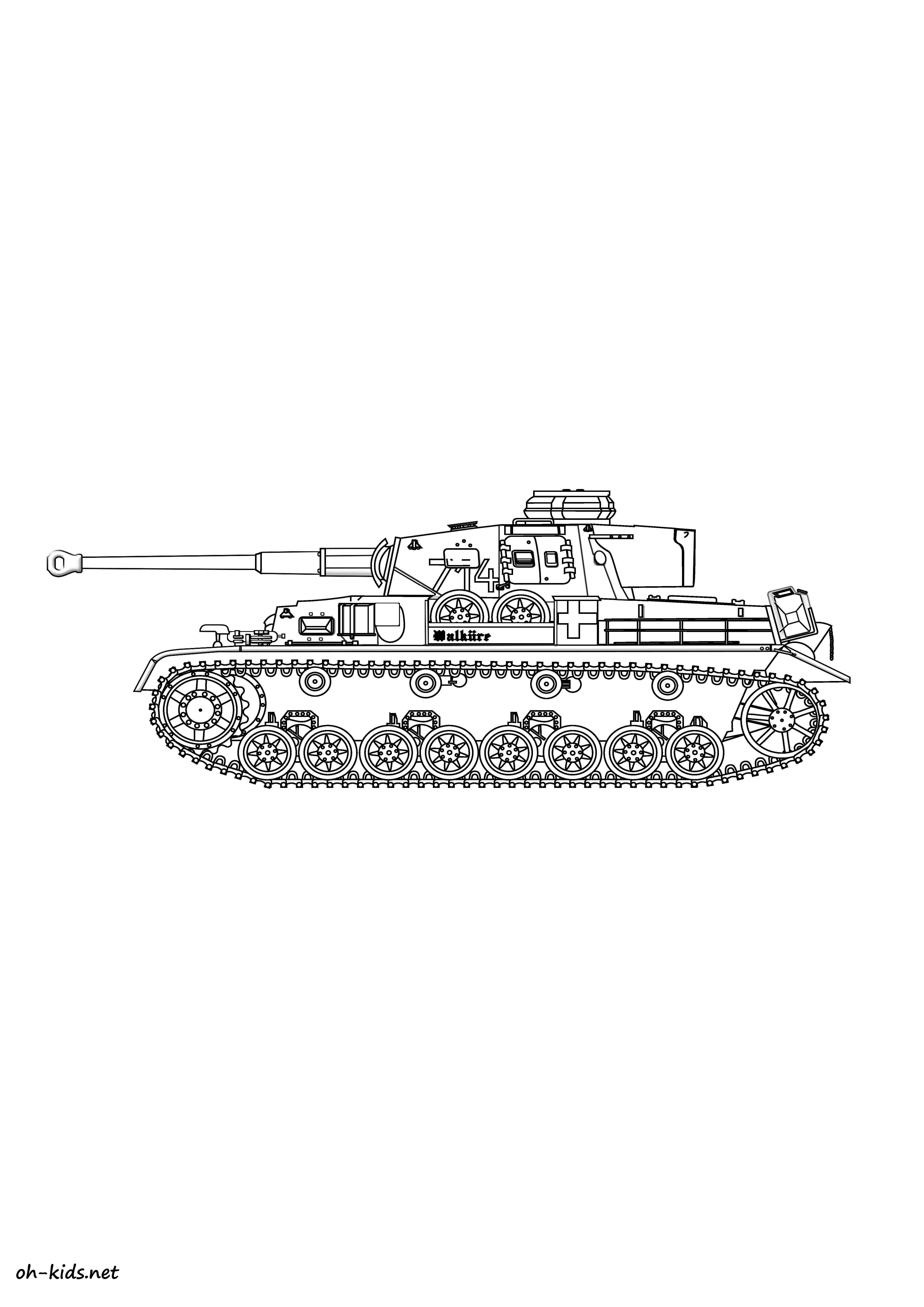 Dessin 307 coloriage tank imprimer oh - Coloriage de tank ...