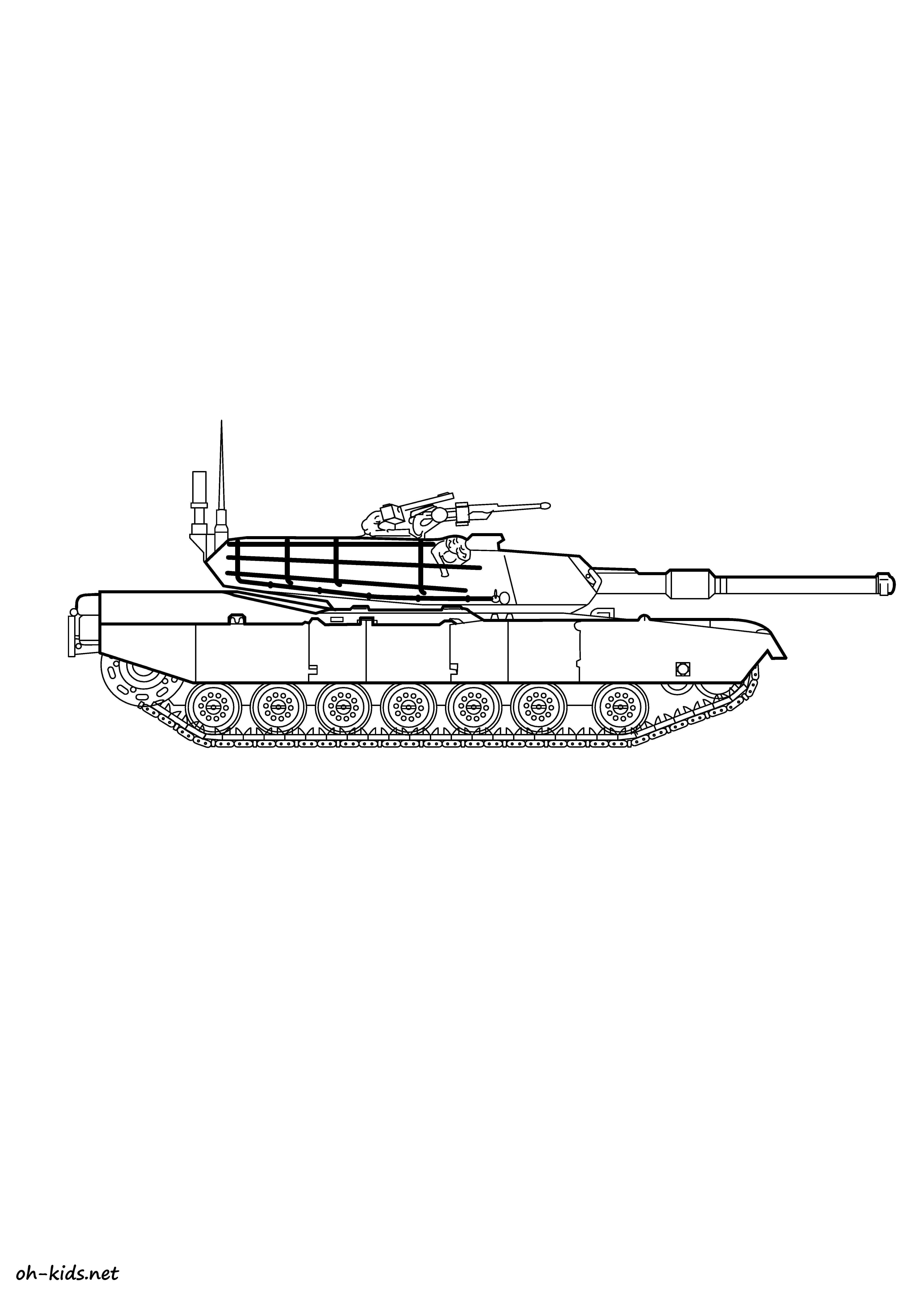 Pin coloriage tank on pinterest - Coloriage de tank ...