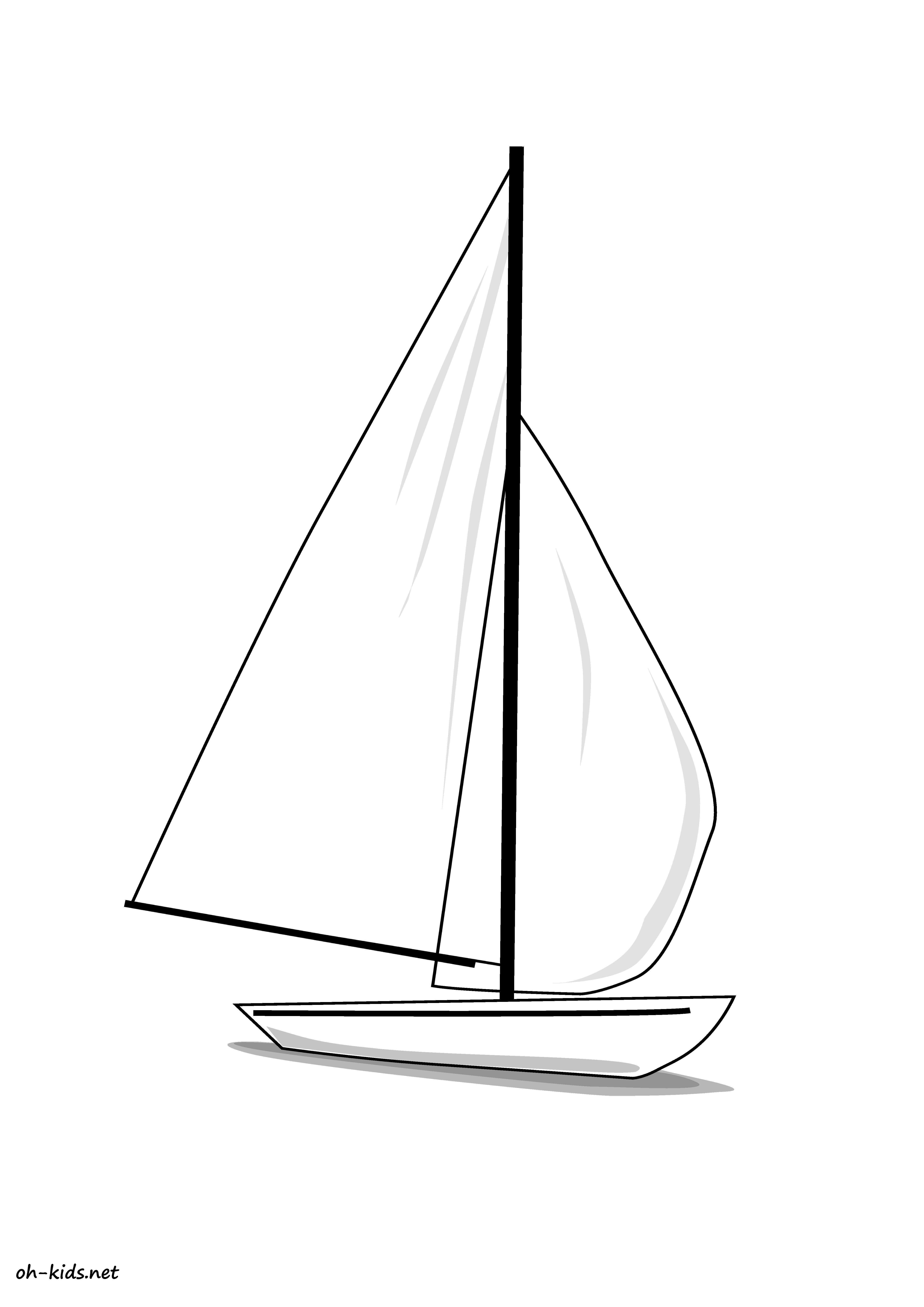 Dessin bateau related keywords dessin bateau long tail - Coloriage voilier ...