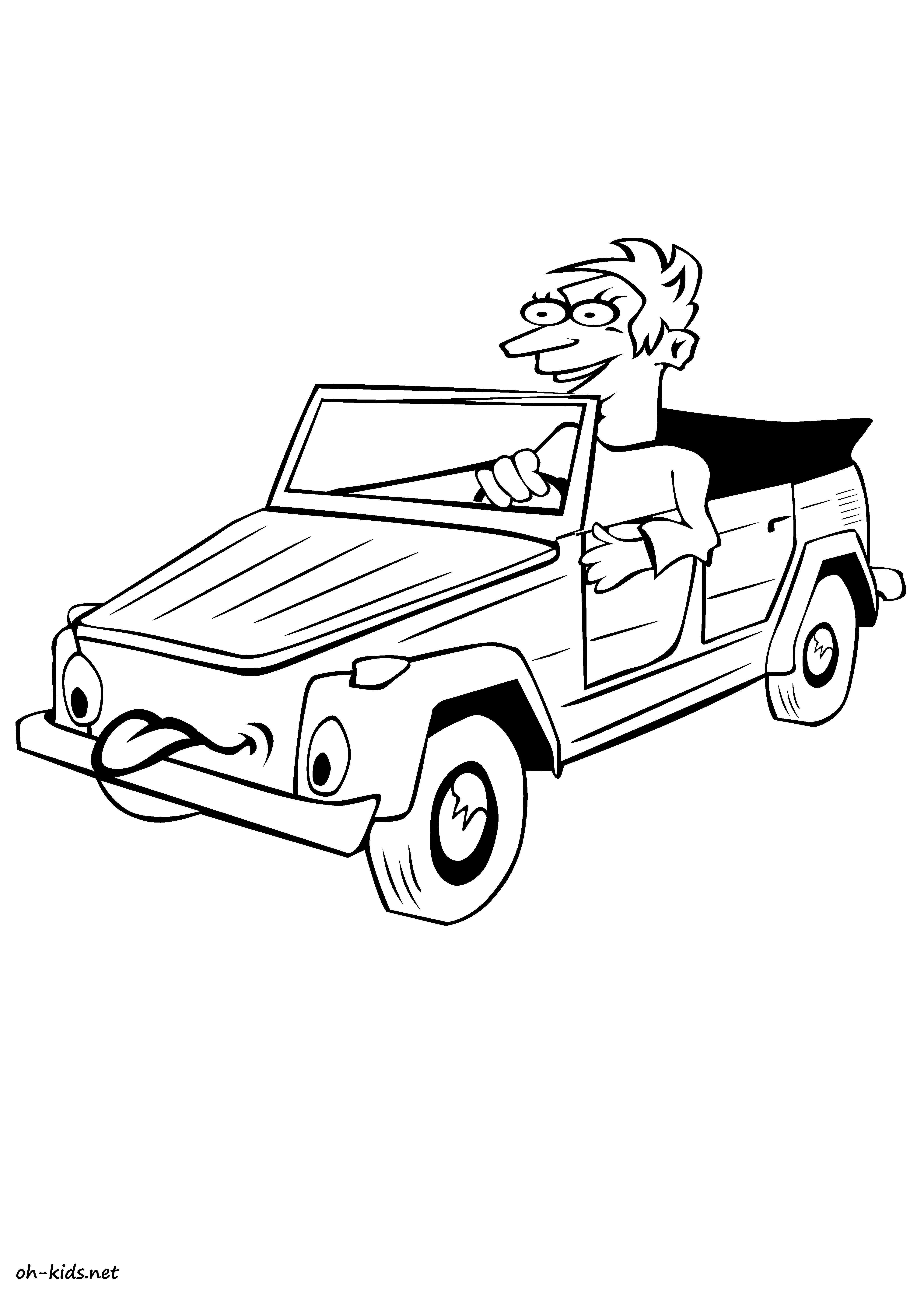 Coloriage voiture d 39 enfant oh kids fr - Coloriage voiture gratuit ...