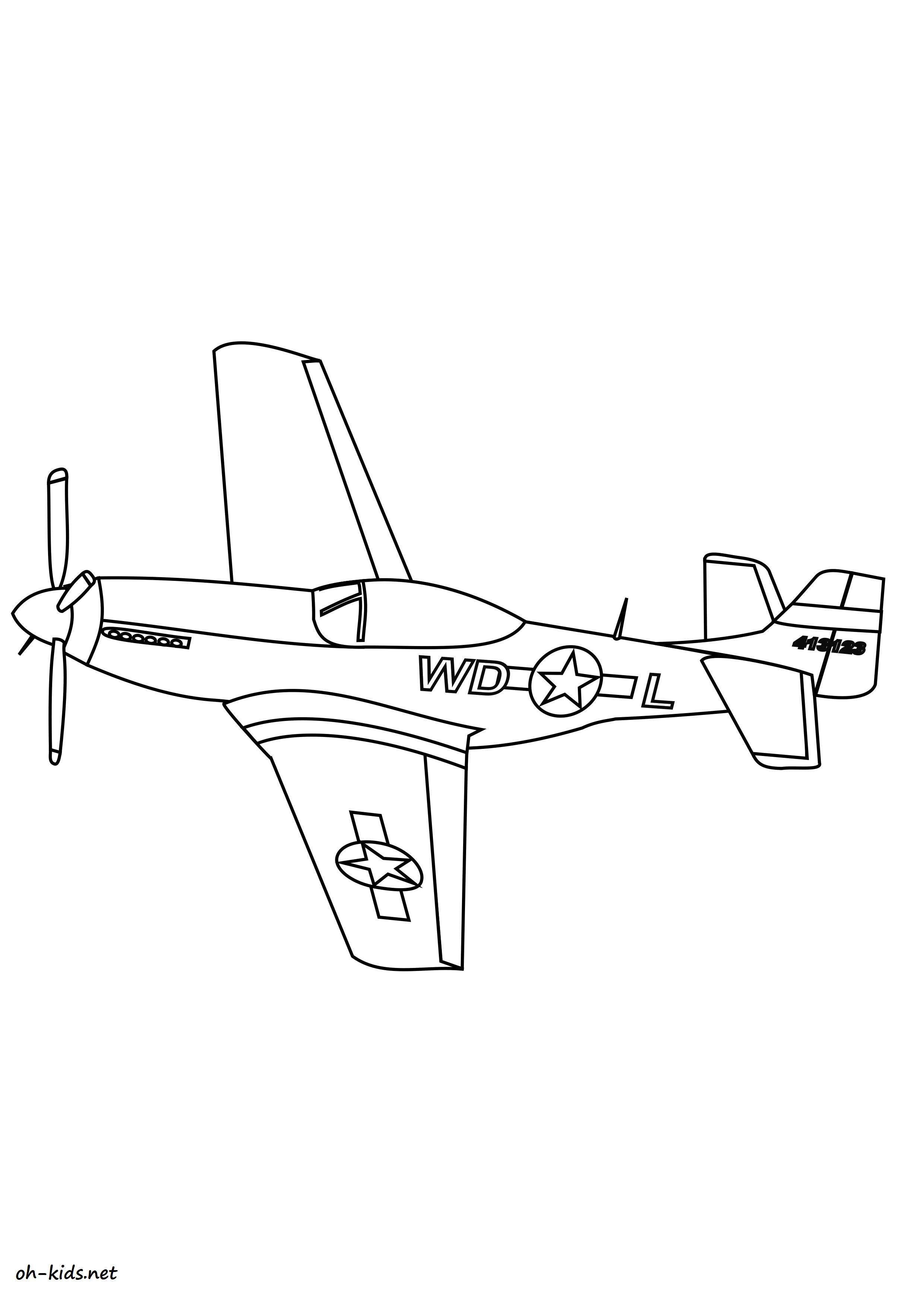 Dessin 1442 Coloriage Avion De Chasse A Imprimer Oh Kids Net