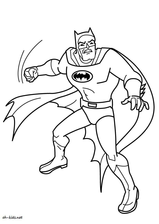 Coloriage De Batman A Imprimer Gratuit