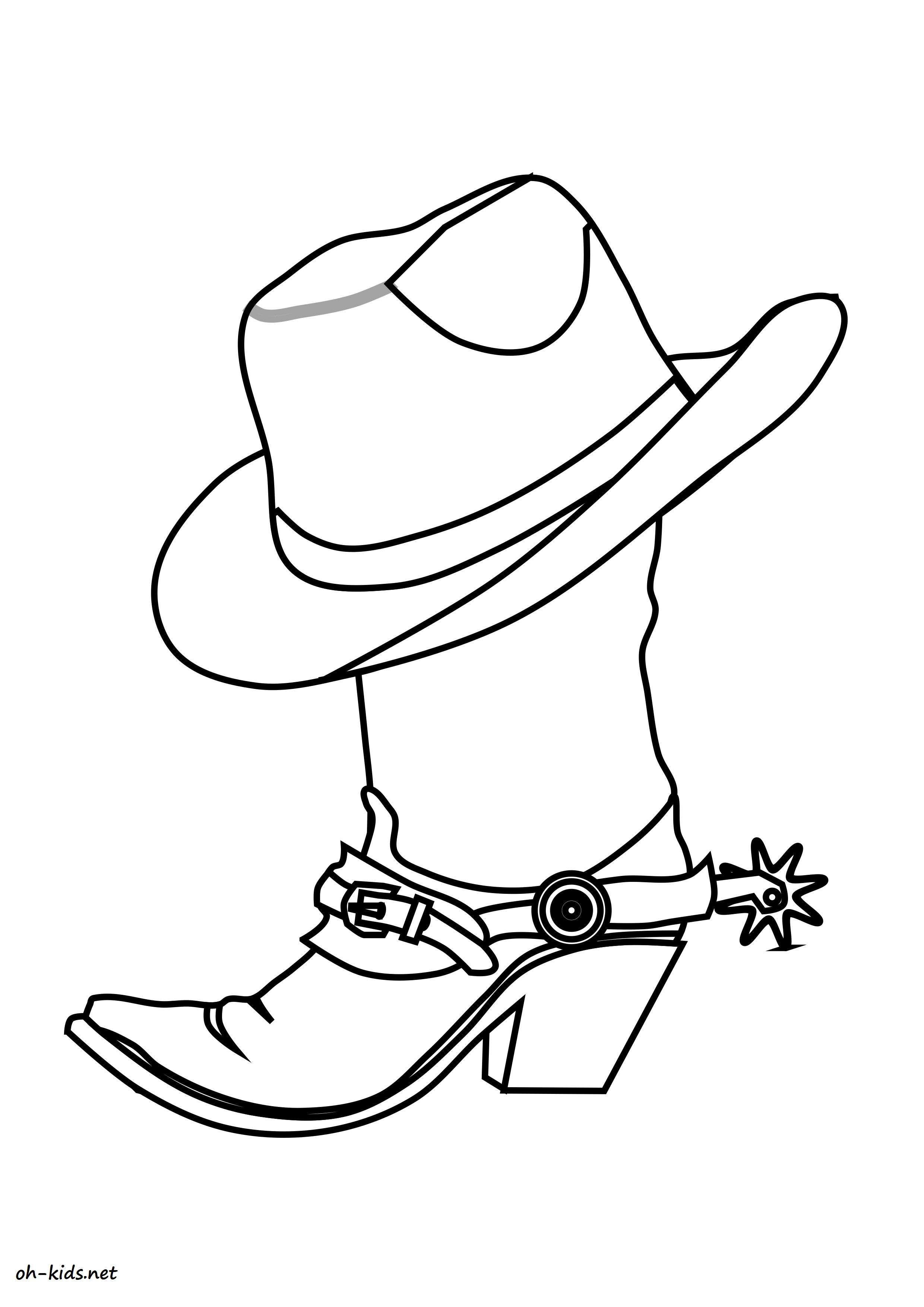 Coloriage cowboy - oh Kids FR