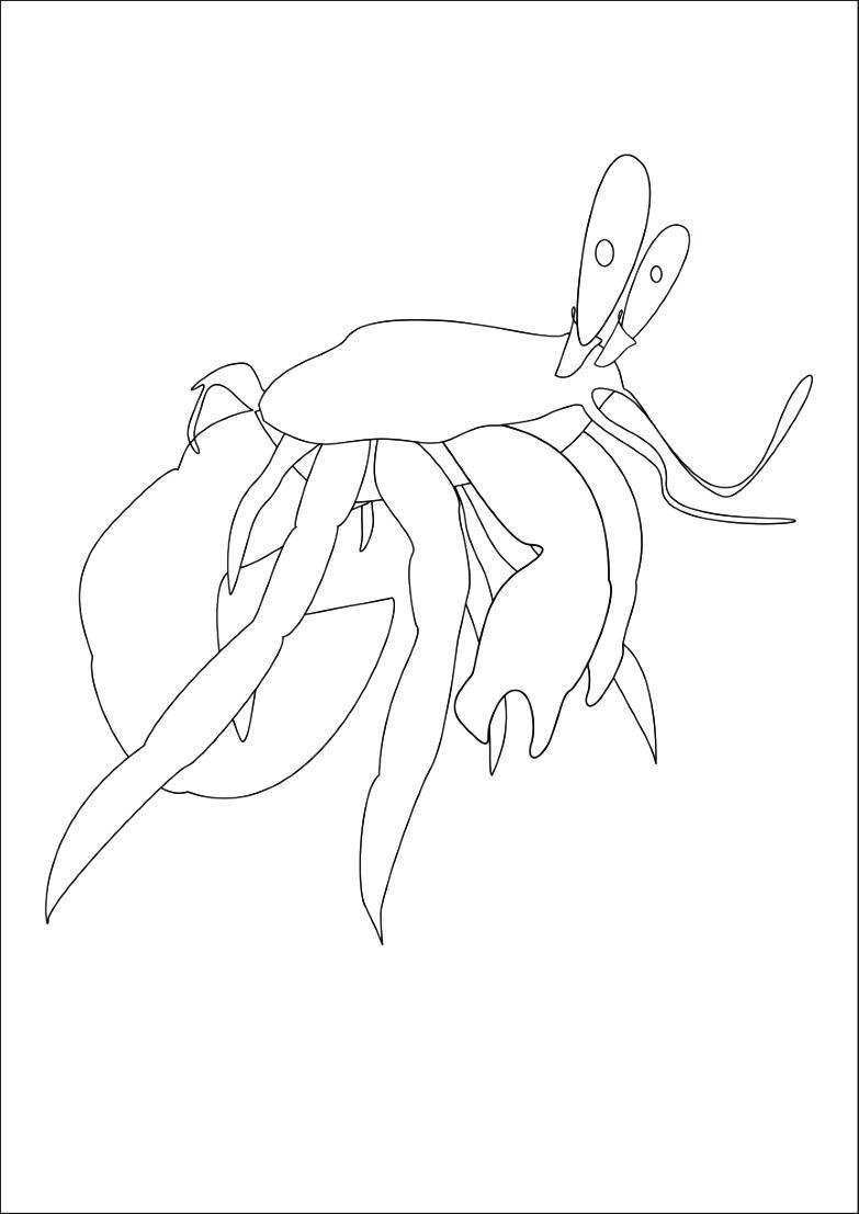 Dessin 1009 Coloriage Crabe A Imprimer Oh Kids Net