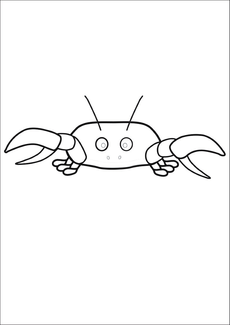 Dessin 1010 Coloriage Crabe A Imprimer Oh Kids Net