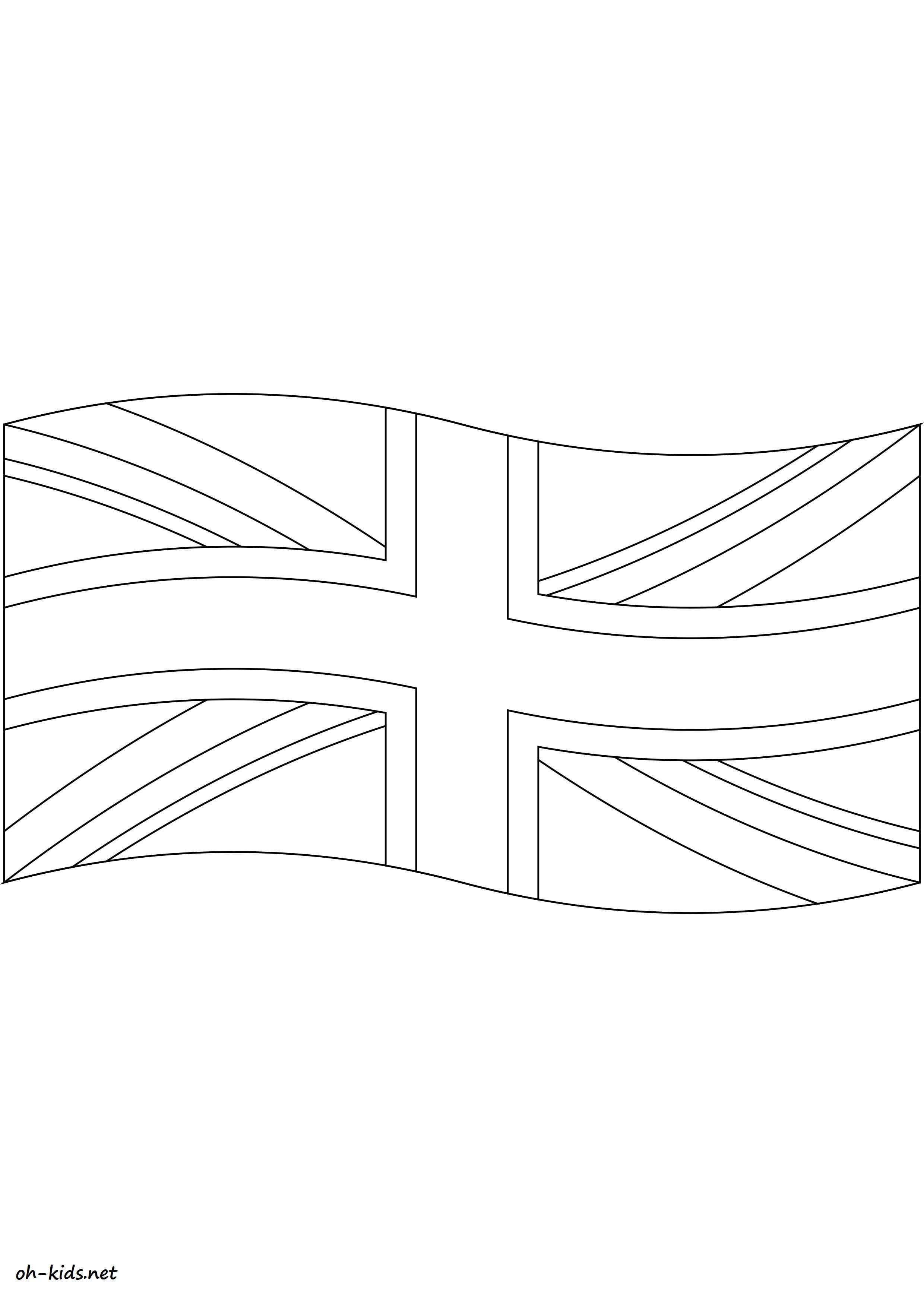 Coloriage drapeau anglais - oh Kids FR
