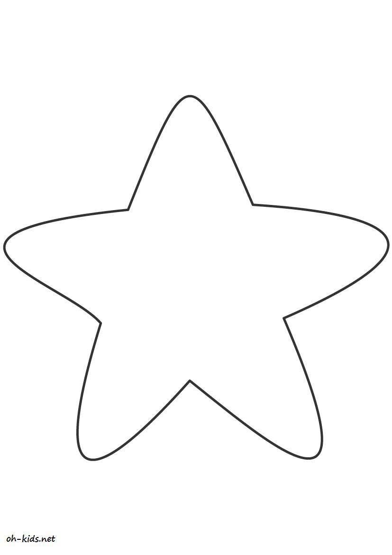 Dessin #393 - Coloriage étoile à imprimer - Oh-Kids.net