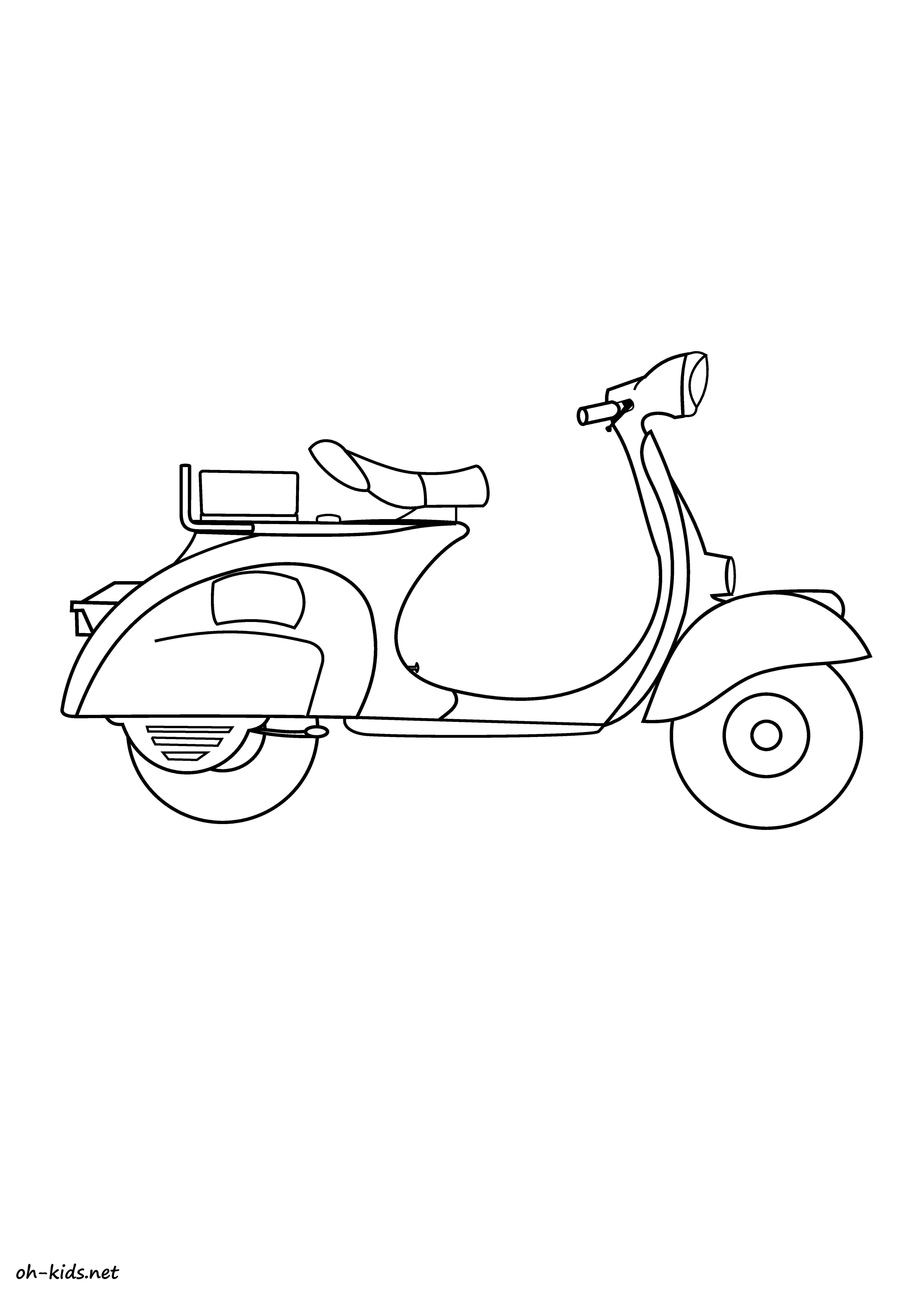 Scooter Coloriage - OHBQ.info