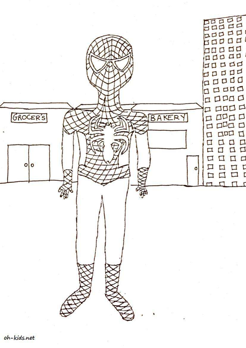 Coloriage Spiderman - oh Kids FR