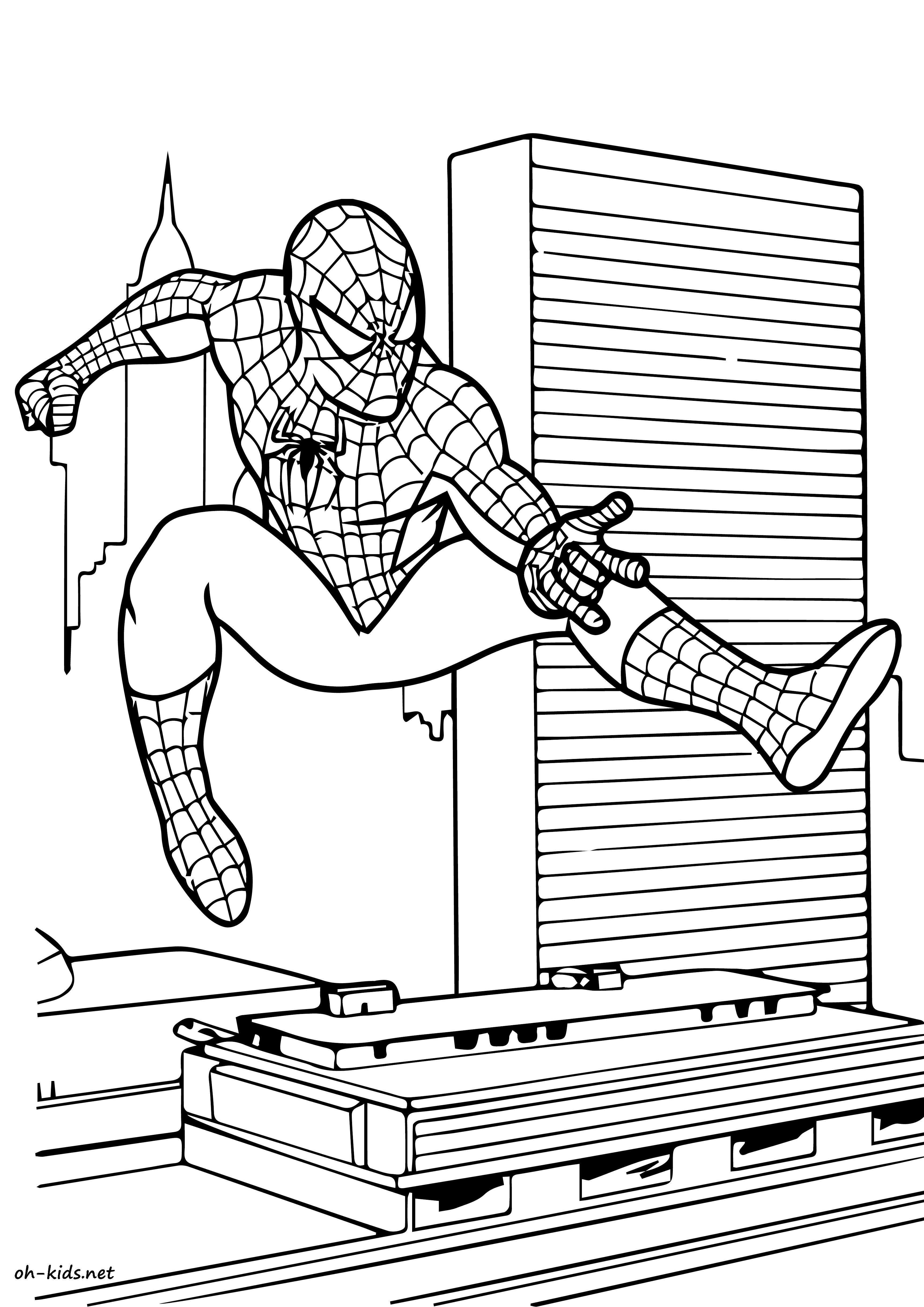 Dessin #834 - Coloriage Spiderman à imprimer - Oh-Kids.net
